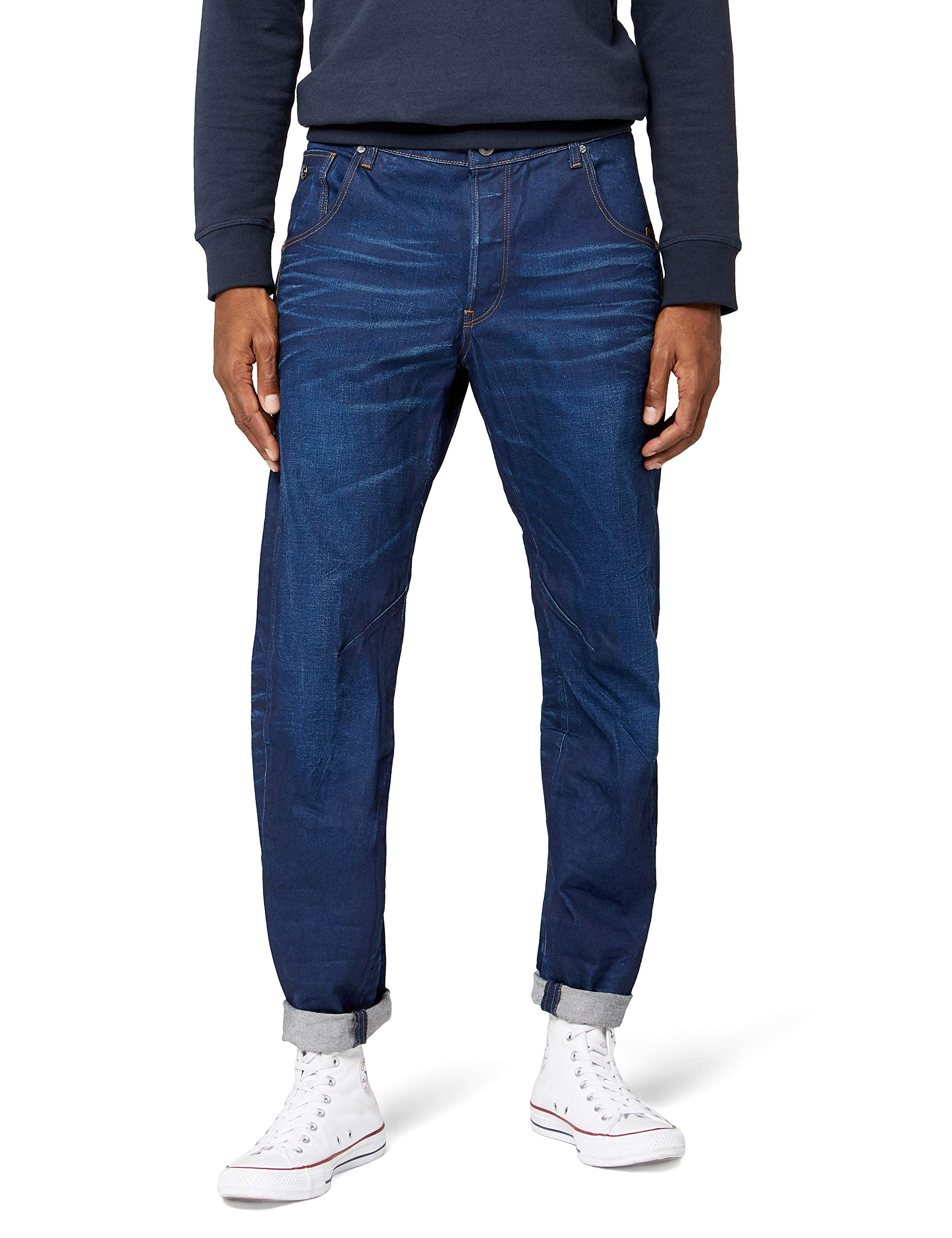 G Arc 36 Aged35 uk star Raw 3dJeans HommeBleumedium 8wON0nPkX