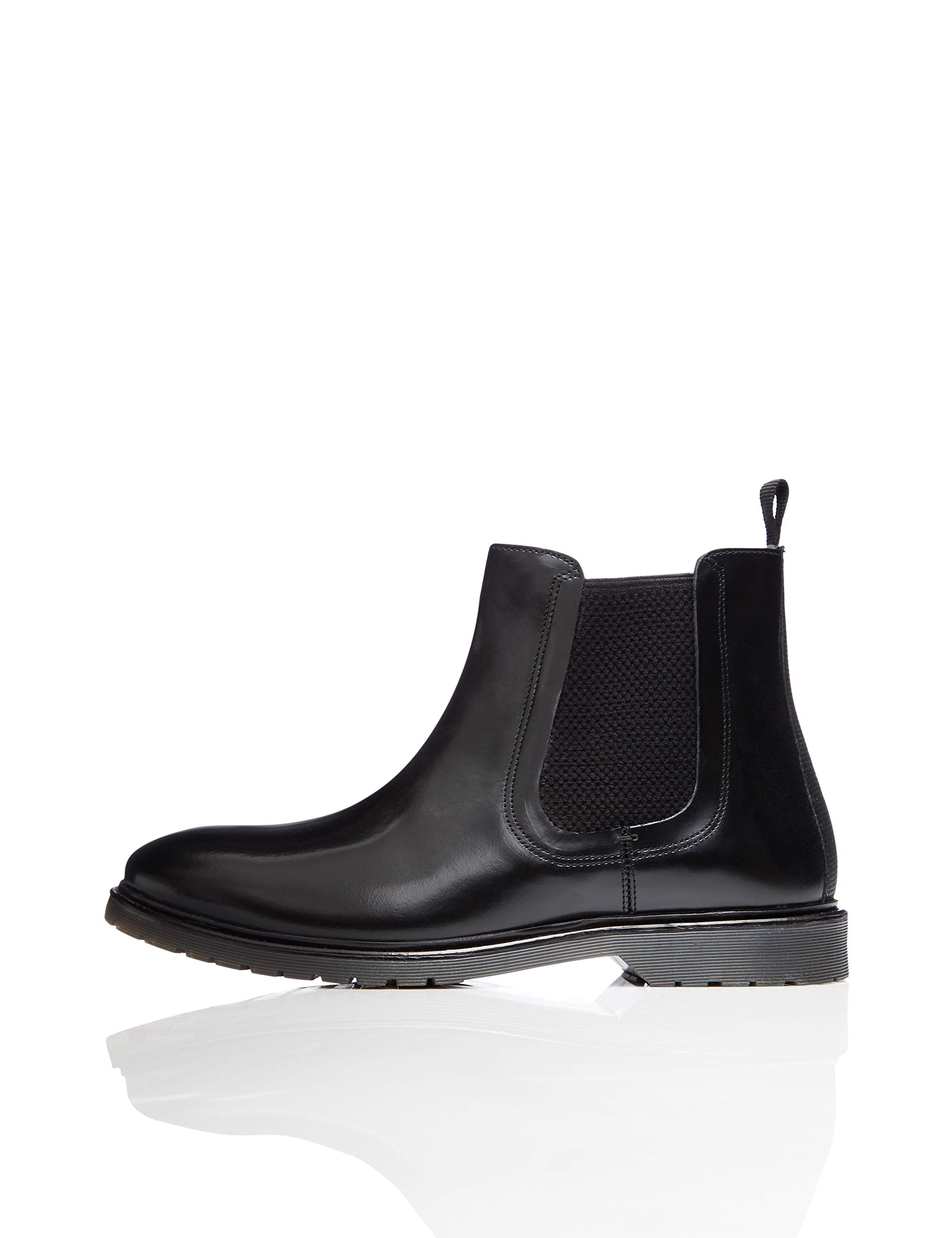 Black FindLeather Cleated Eu Bottes Polido45 ChelseaNoir UqpzVMS