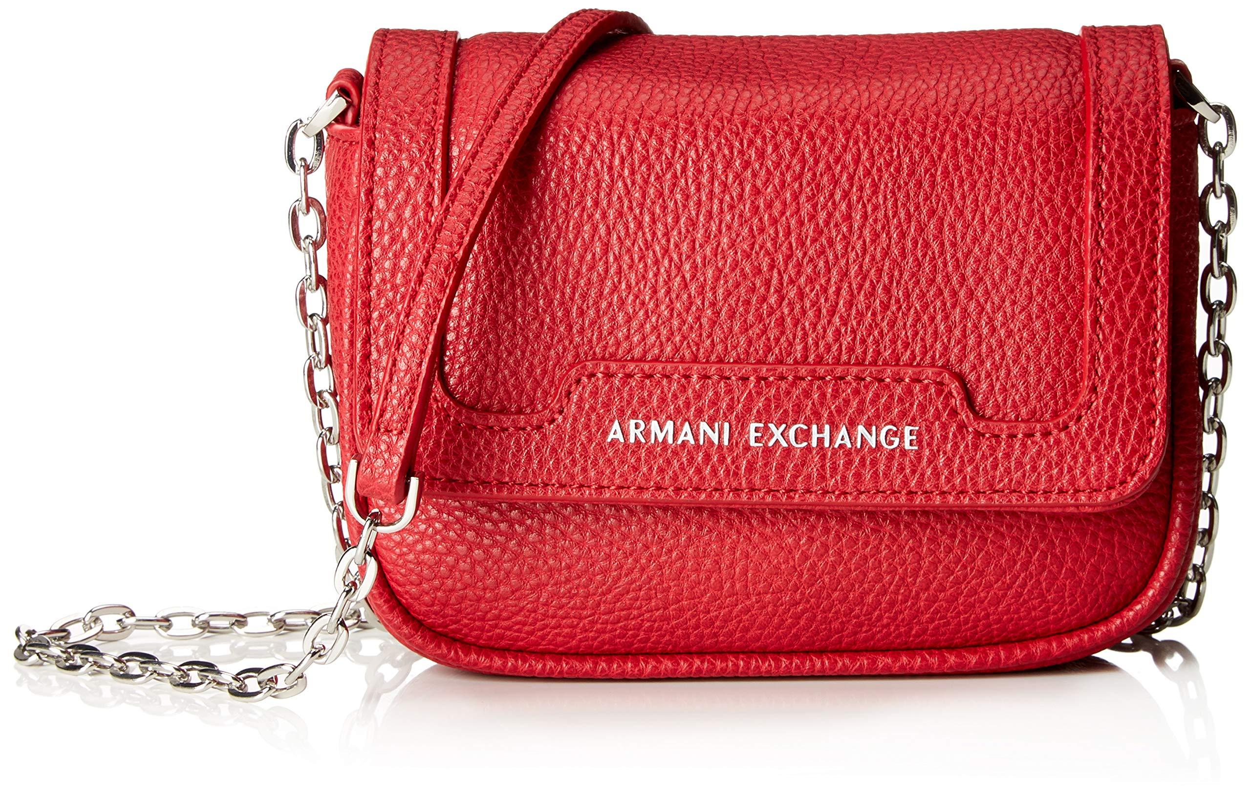 Crossbody Red12x5x16 Exchange X BagSacs FemmeRougeroyal Armani Bandoulière T Small H Cmb 5jq3R4cAL