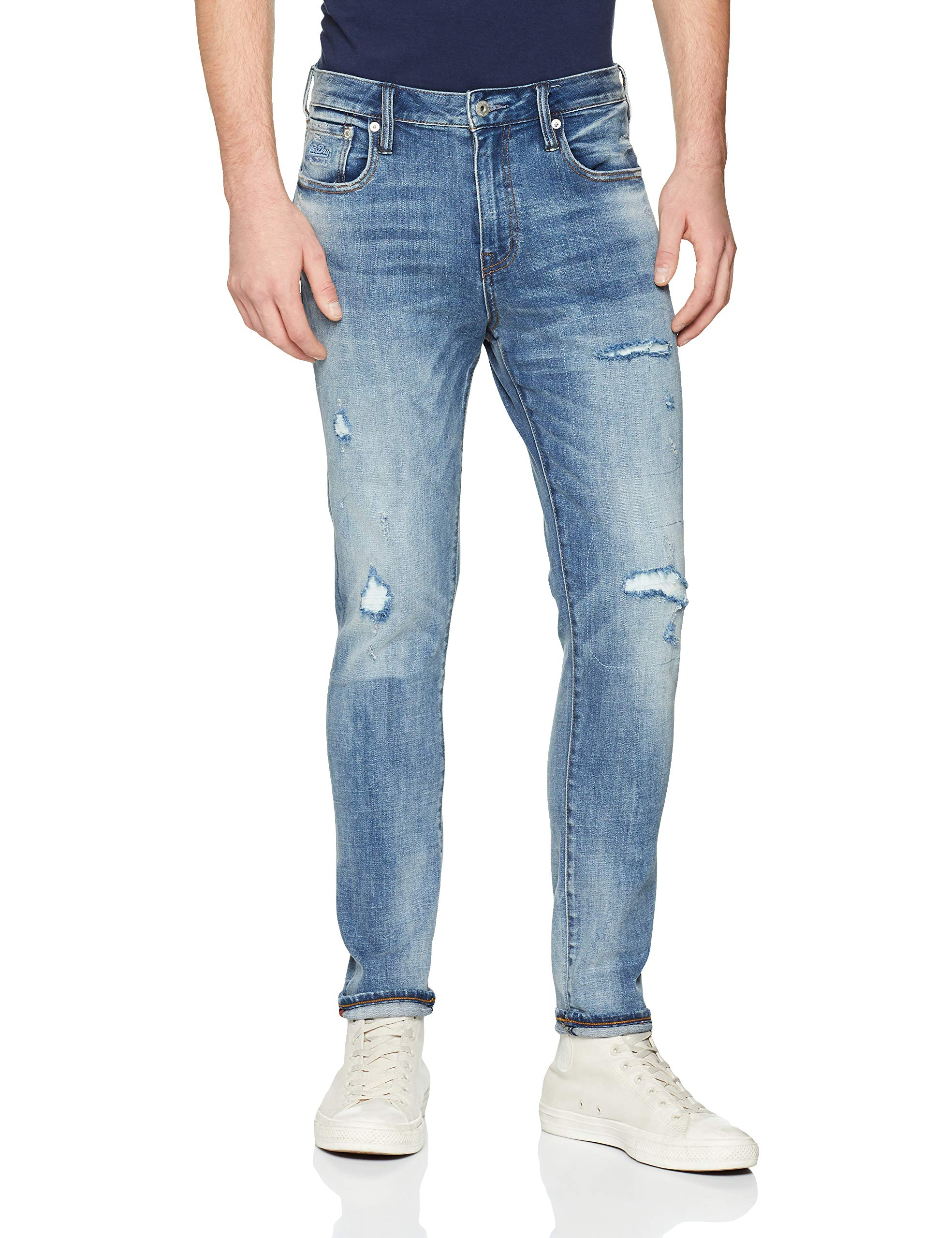 Tyler Superdry Slim Blue Rip 0Homme JeanBleuvicious Vf944taille Fabricant34 vN8wmn0