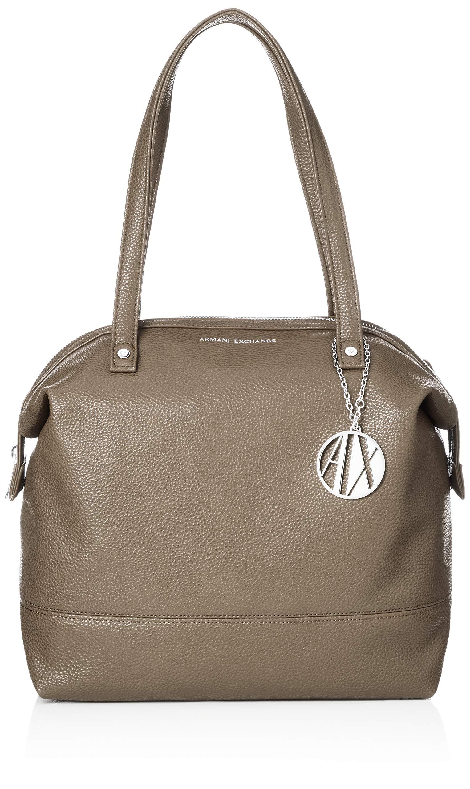 Armani T FemmeMarrontaupe31x16x52 X Cmb Bag Tote Exchange H LeatherCabas QdxthsrC