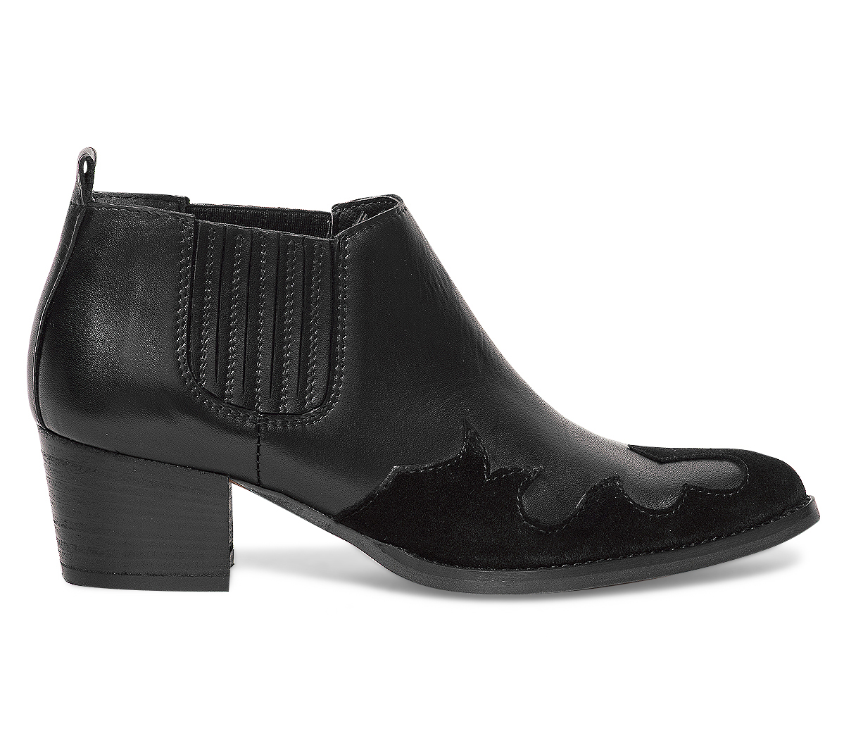 Eram Cuir Low Boots Noir Western xCrBeod