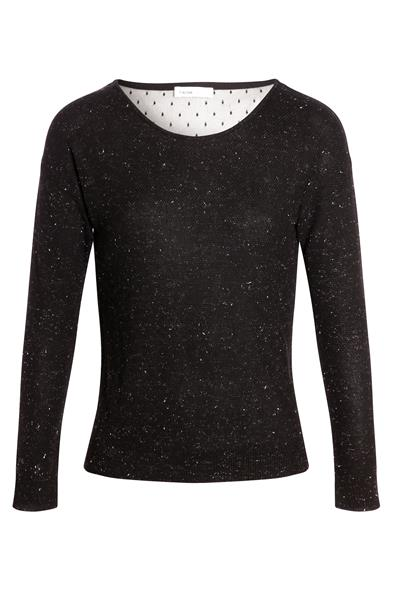 MetalFemme Pull Cache Noeud Taille Détail Brillant Dos Noir Xl fgyYb76Iv