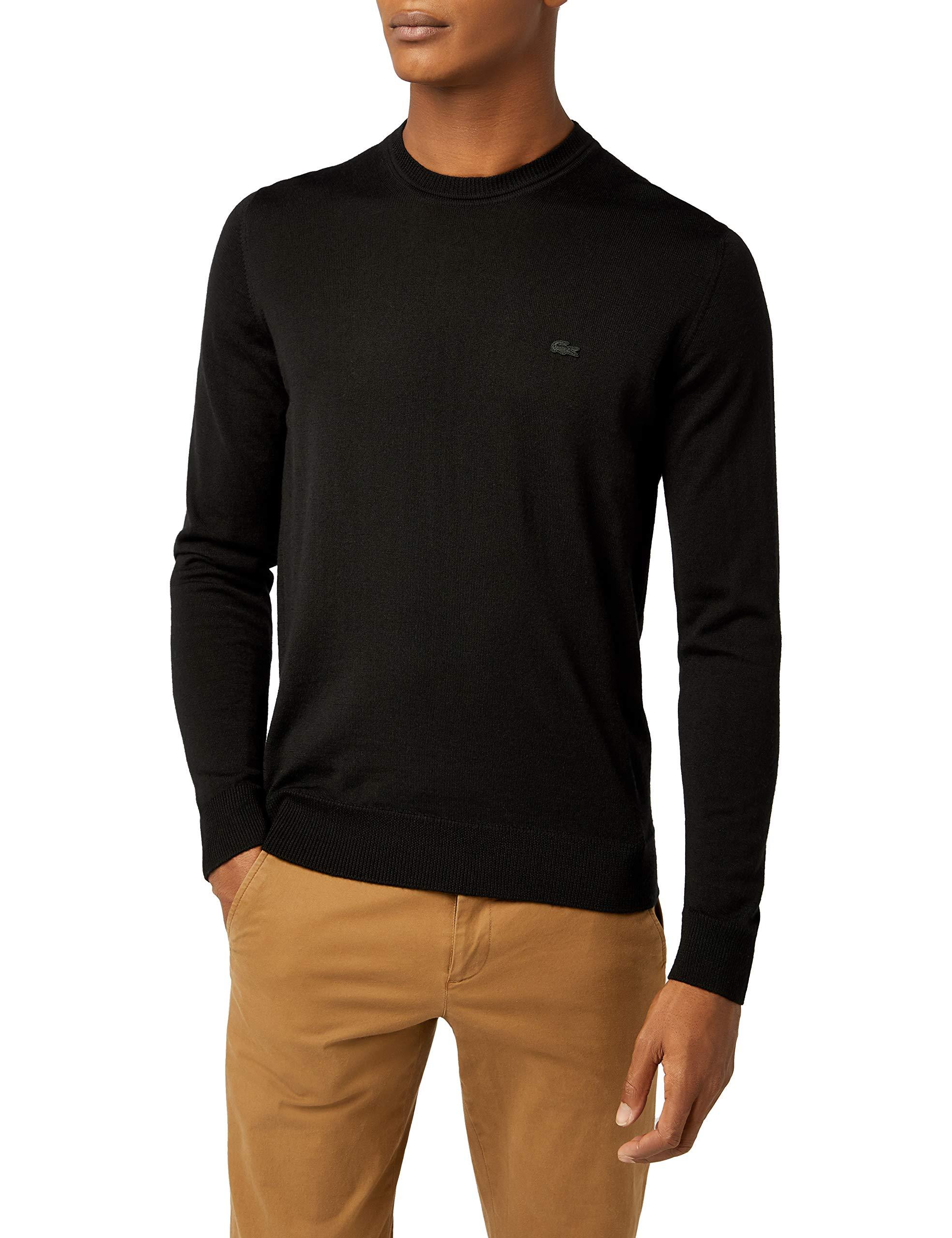 fréquent code promo gamme complète d'articles Lacoste AH2997, Pull Homme Noir (Noir), XX-Large (Taille Fabricant : 7)