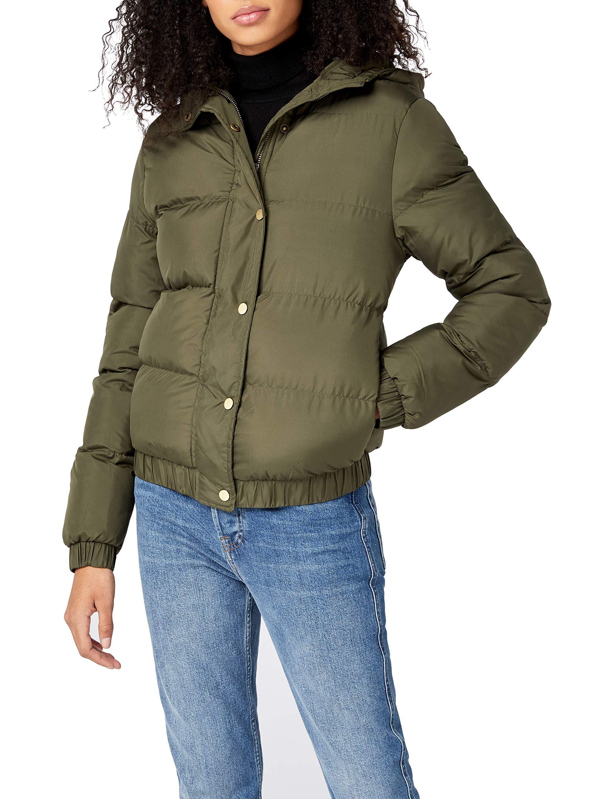 Classics BlousonVertdarkolive Hooded Femme Jacket Puffer 551S Urban Ladies Nmw8n0
