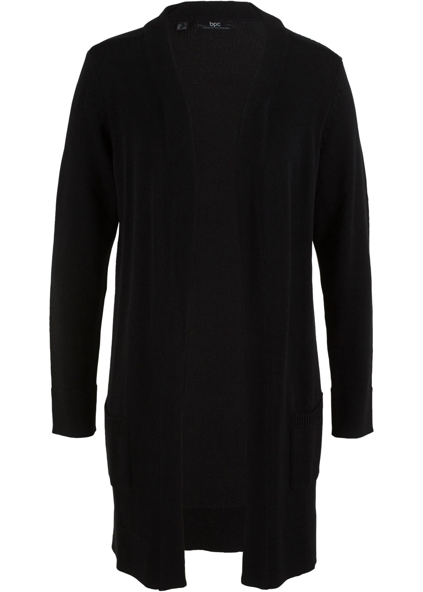 Long En CollectionGilet Bpc Femme Bonprix Noir Longues Pour MailleManches IW9YH2ED