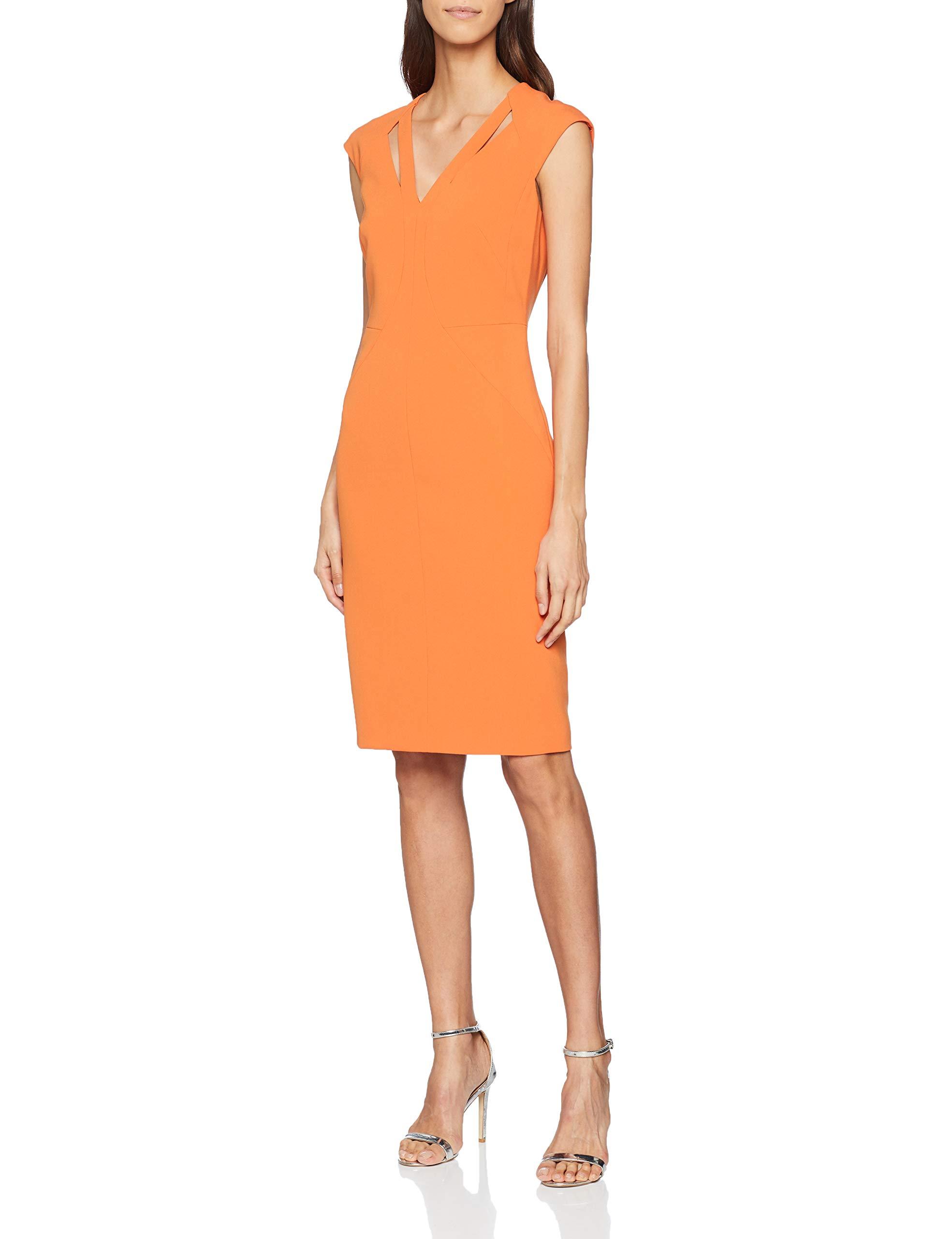 FabricantUk Contour Robe SoiréeOrange36taille Karen Millen Out De 8Femme Cut Dress EH9ID2