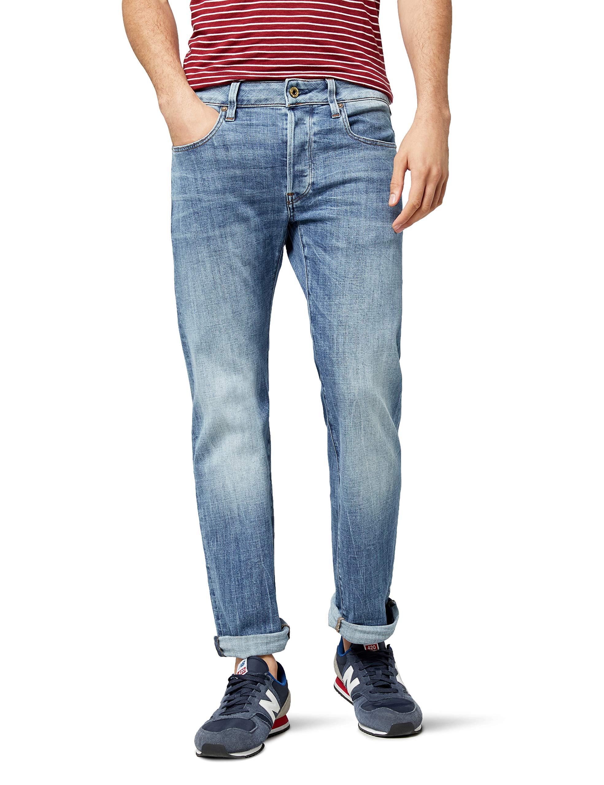 HommeBleulight l30 G RawJeans AgedW33 star Droit BWCxrdoe