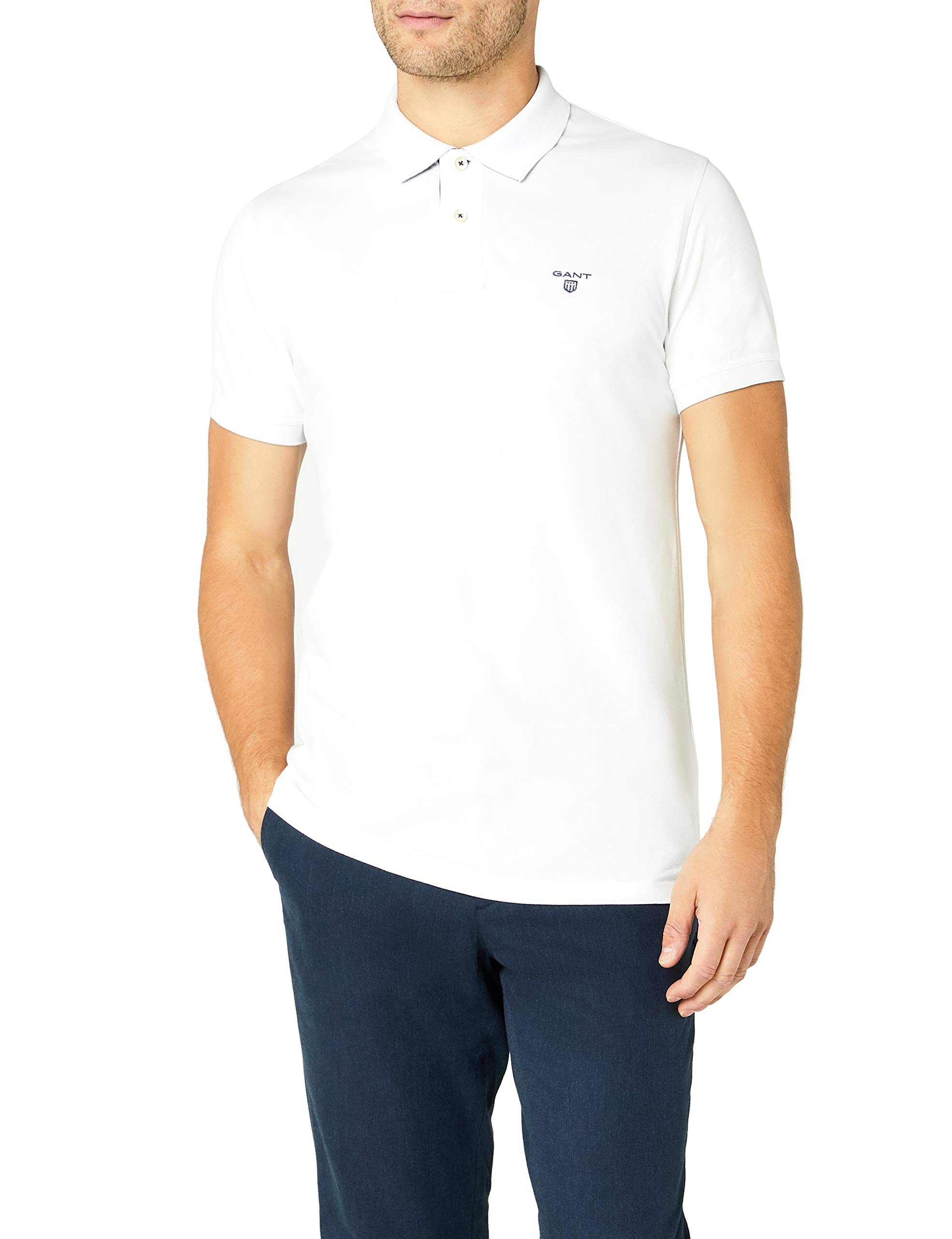 Courtes Homme Manches Size Col Mbrand Fabricant FrMediumtaille Blanc GantPolo wmN08n