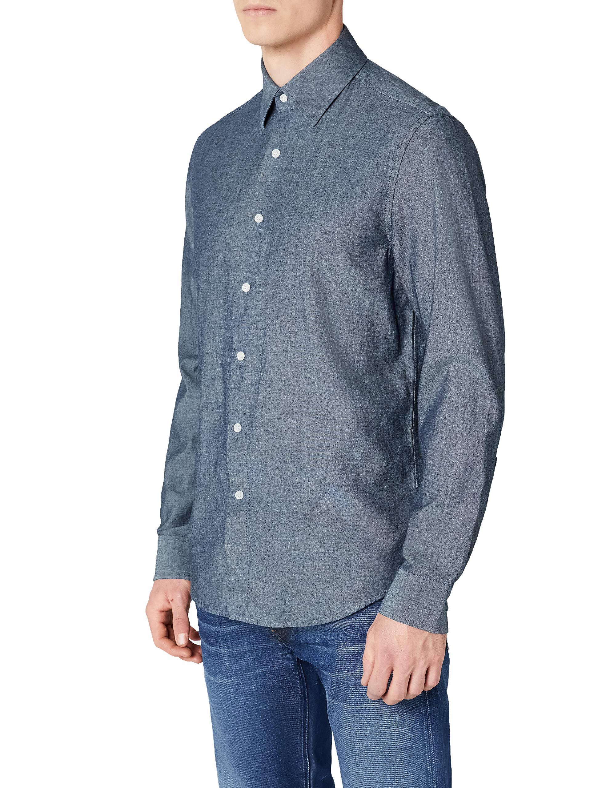 s Homme G Straight Chemise Raw Core Shirt CasualBleurinsed 082Small L star 8POnNX0wk