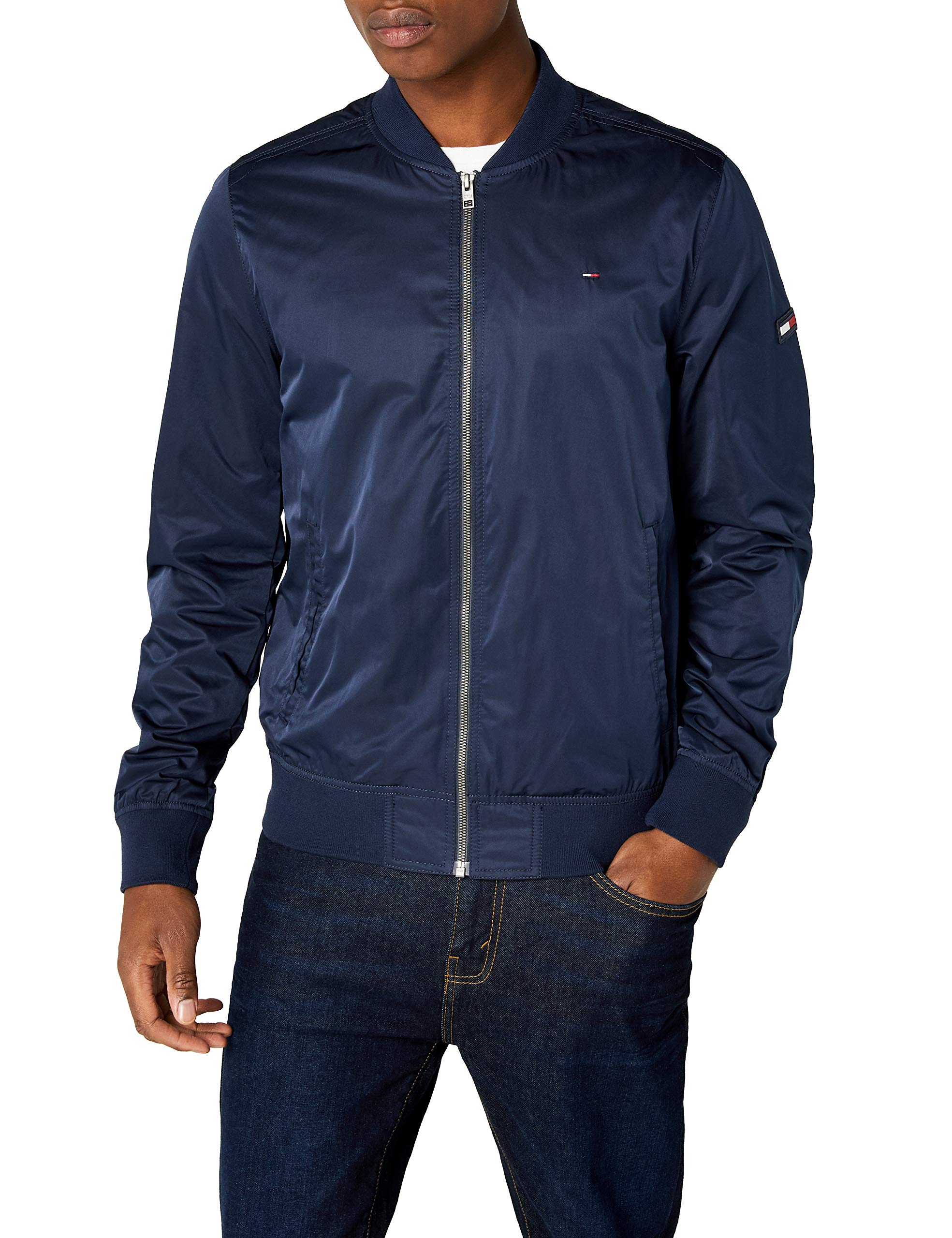 Jeans Homme Longues Bomber large Manches Droit Essential Bleublack Iris Tommy Straight 002X Blouson TF1Juc3lK