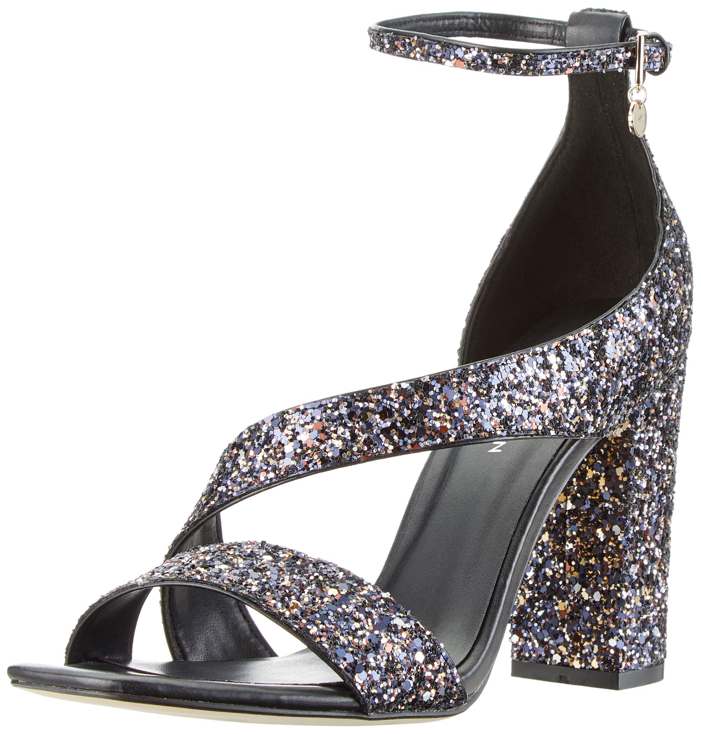 Millen multi heel 0240 Limited Bout FemmeNoirblack Eu Karen Fashions Glitter Ouvert Block SandalsEscarpins wOk8P0XNn