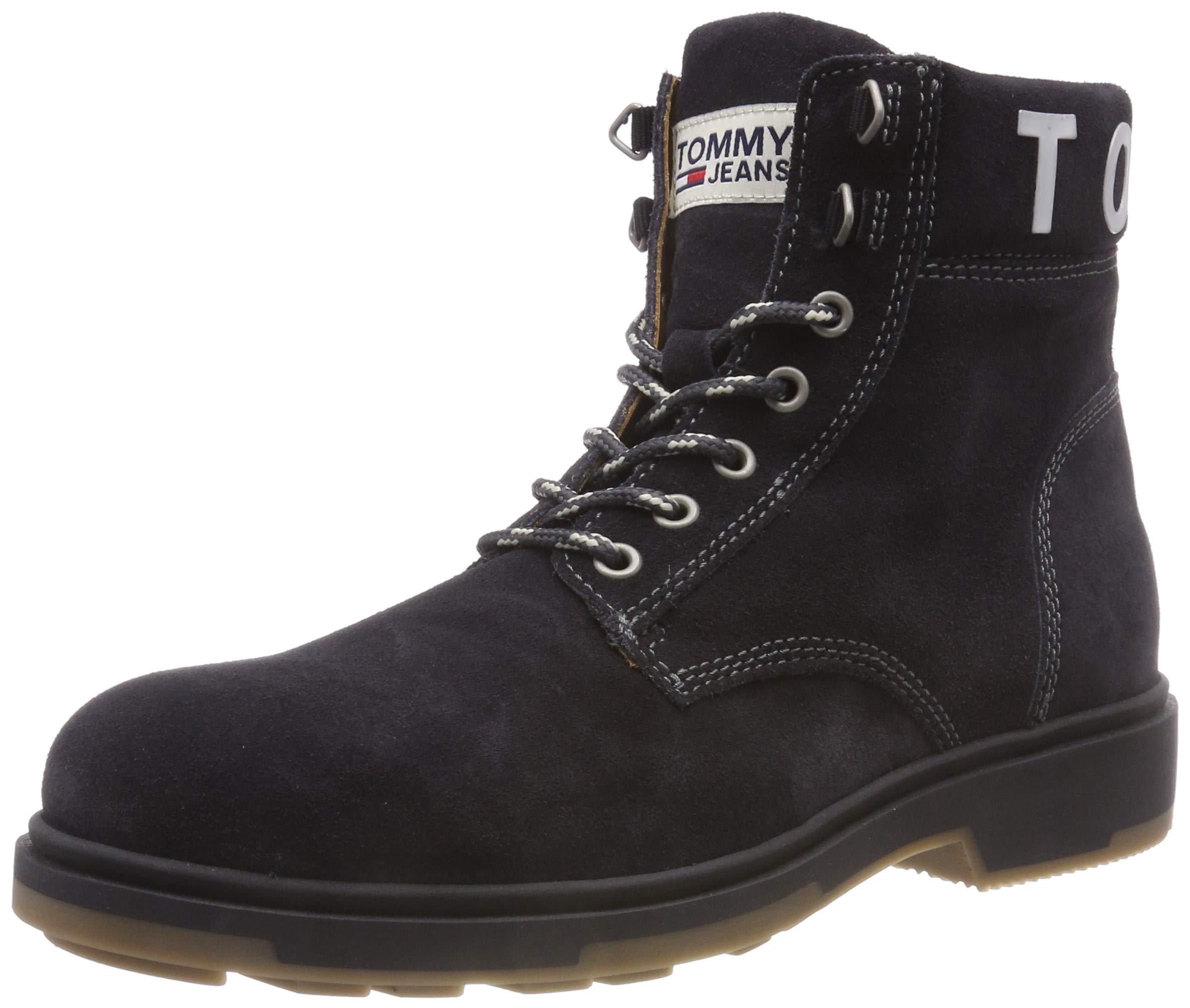 Hilfiger Denim Rangers HommeGrismagnet Eu Suede BootBottes Tommy Jeans 00843 OZkiPXu