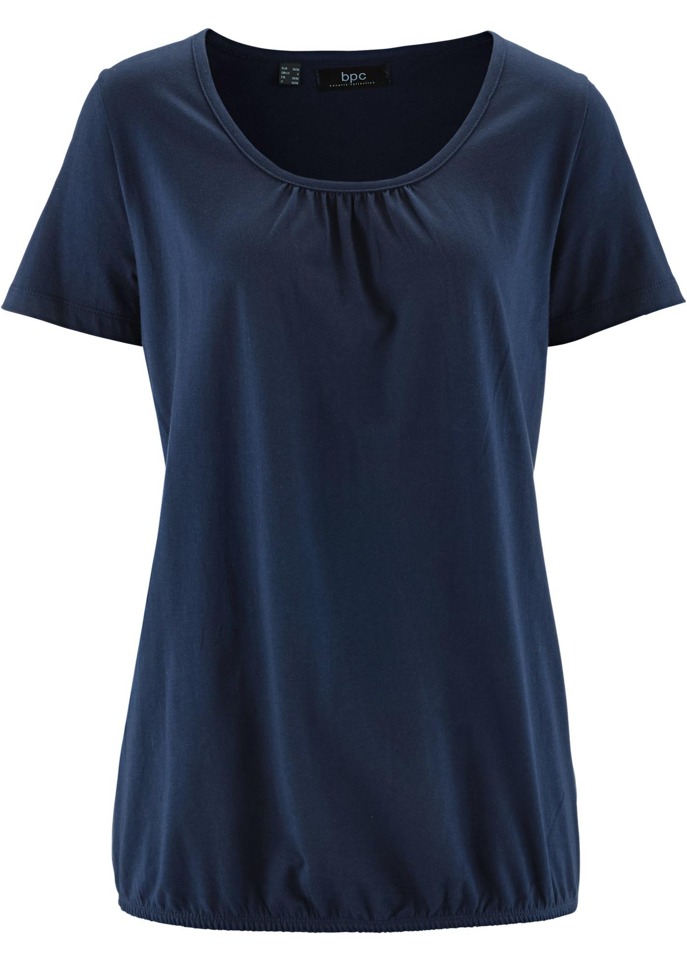 Bleu Bpc Manches Bonprix CollectionT shirt Courtes Femme Pour n0wO8PNXk
