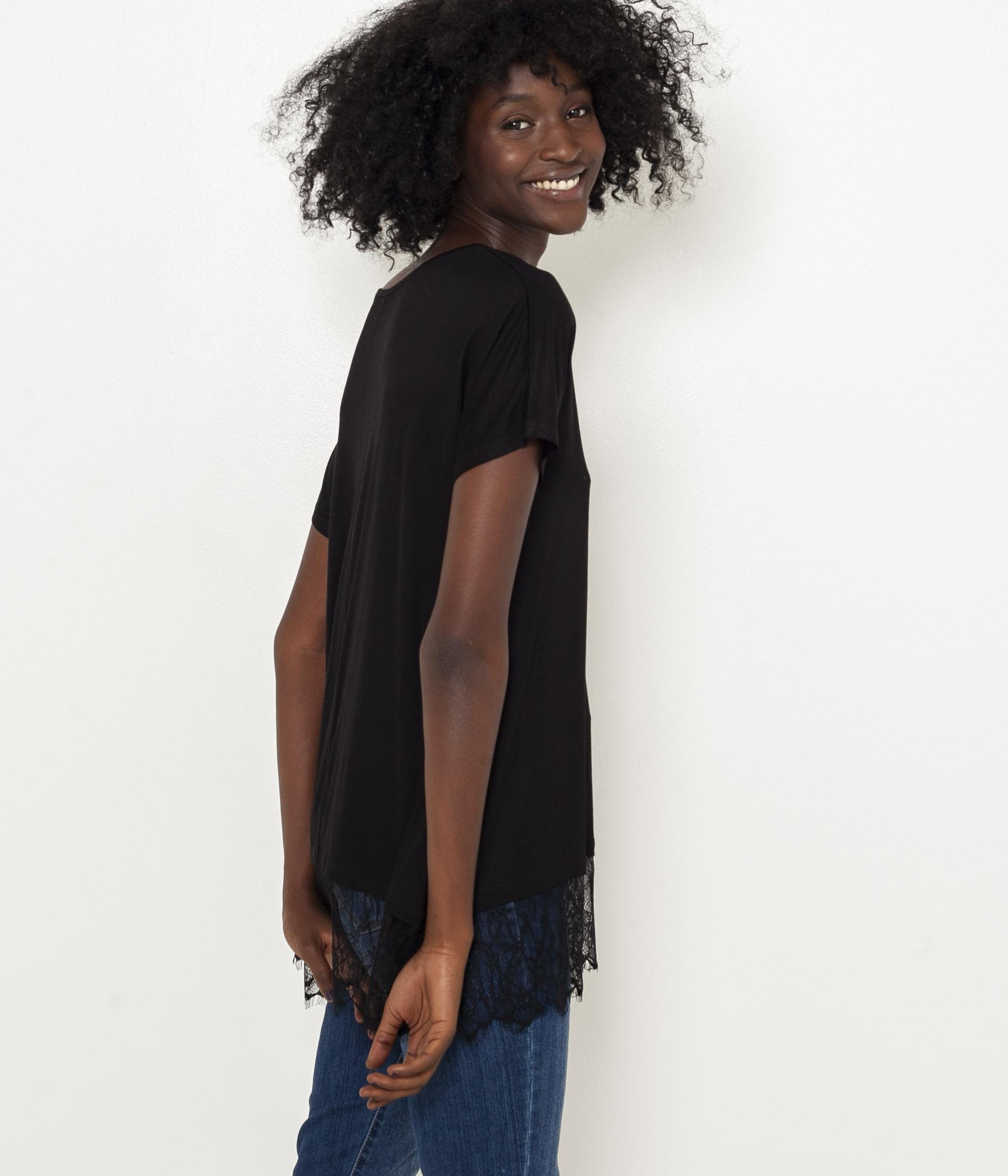 Dentelle T Camaïeu Femme shirt Tunique uKlF35TJ1c