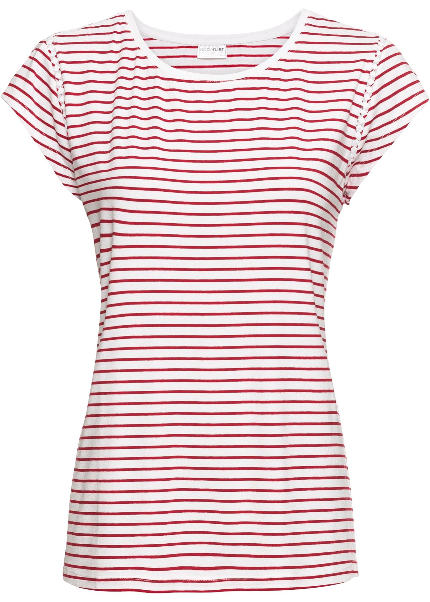 Femme Bodyflirt Courtes Blanc Pour Manches BonprixT shirt VpqUSzM