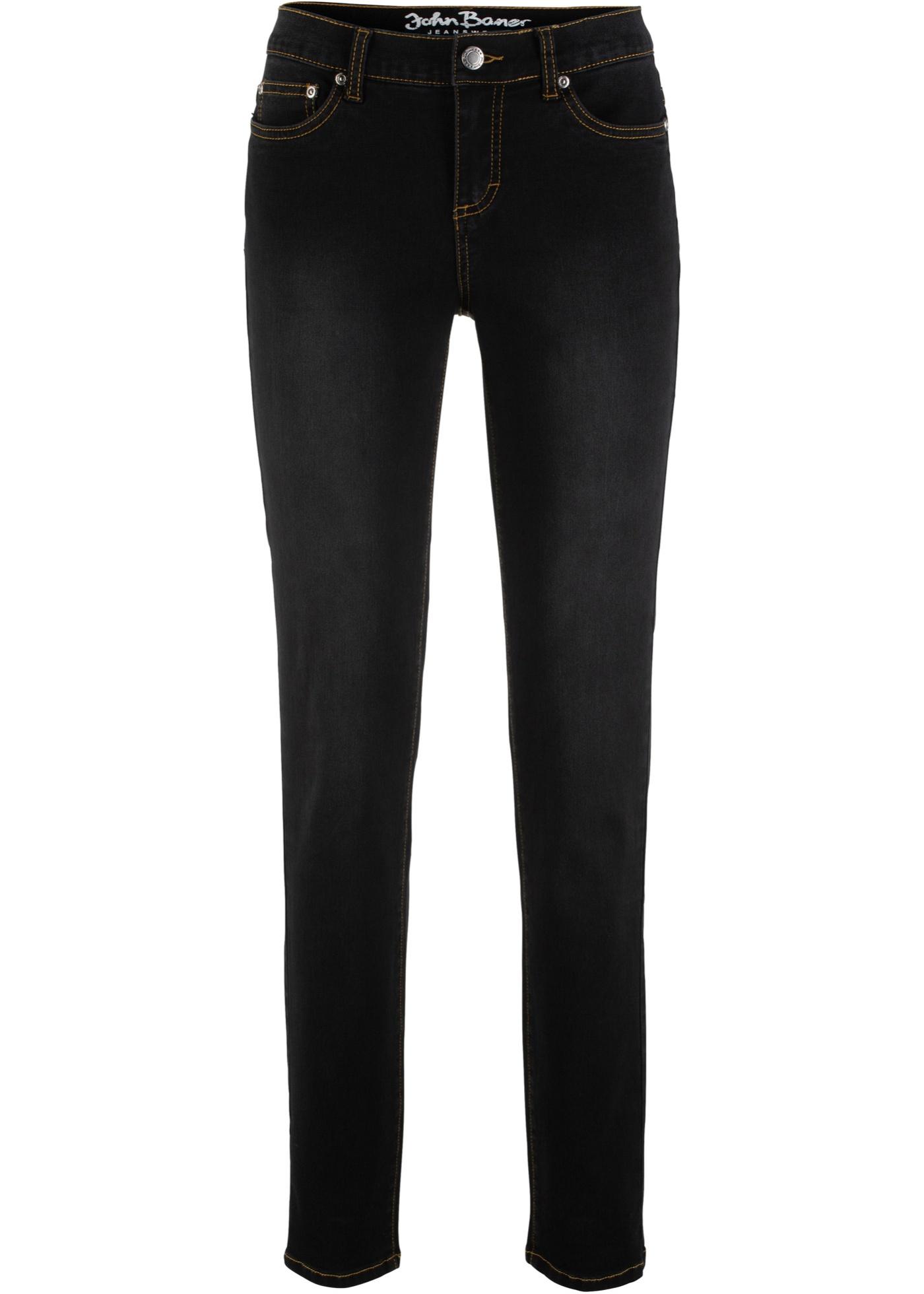 BonprixJean Slim Power Femme Baner Stretch Noir Pour John Jeanswear Y76vgIfyb