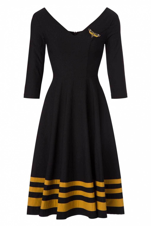 Noir Swing Rebel Love Clothing En 50 Flutter Moth Dress Années n0X8wOPk