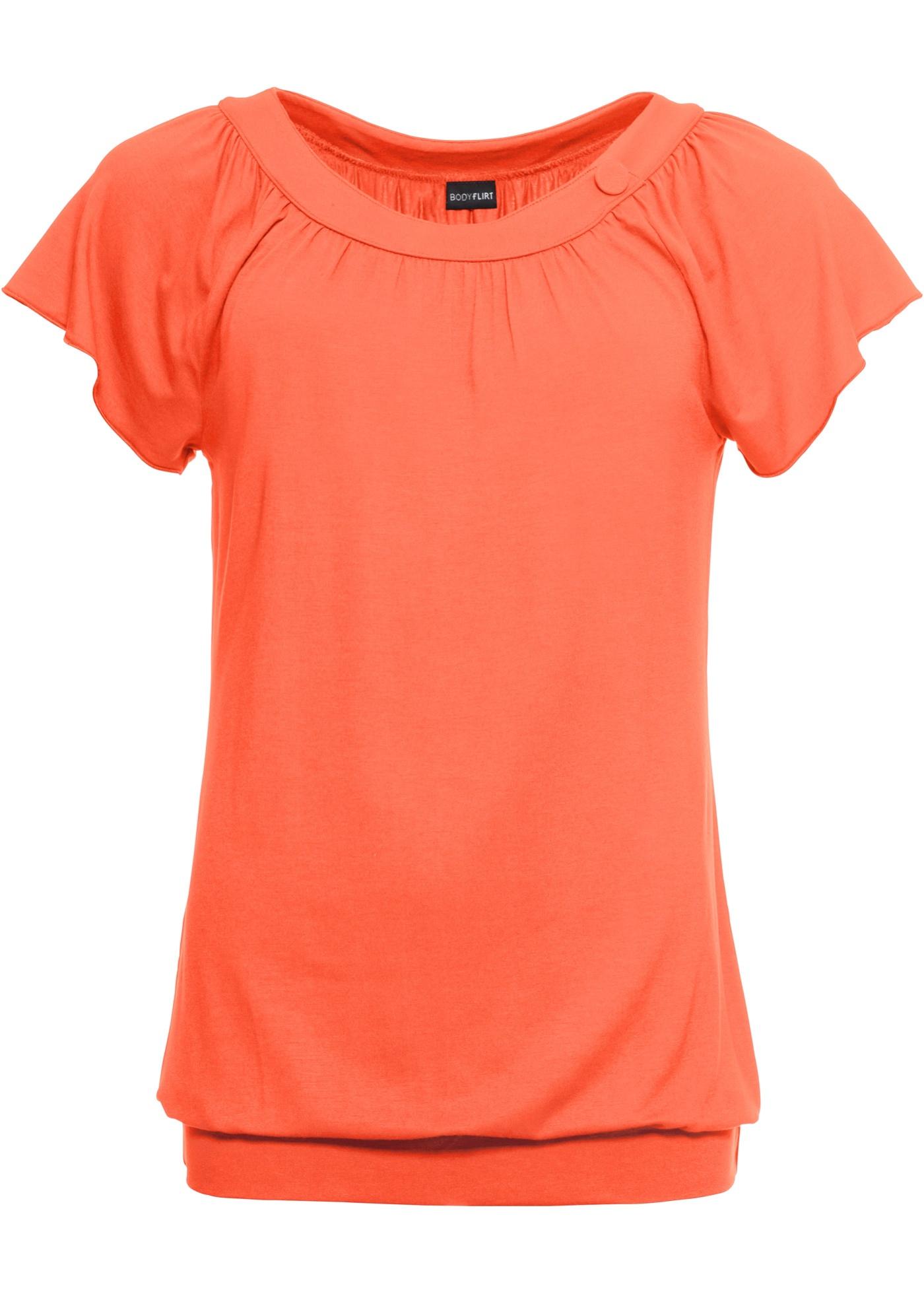 Rouge Femme Manches Bodyflirt shirt Courtes BonprixT Pour kXwuiPOZT