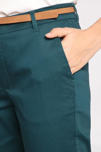 4 8 Vert ElasthanneFemme 34 City Taille Cache 7 Pantalon Poches SqzpMGUVL
