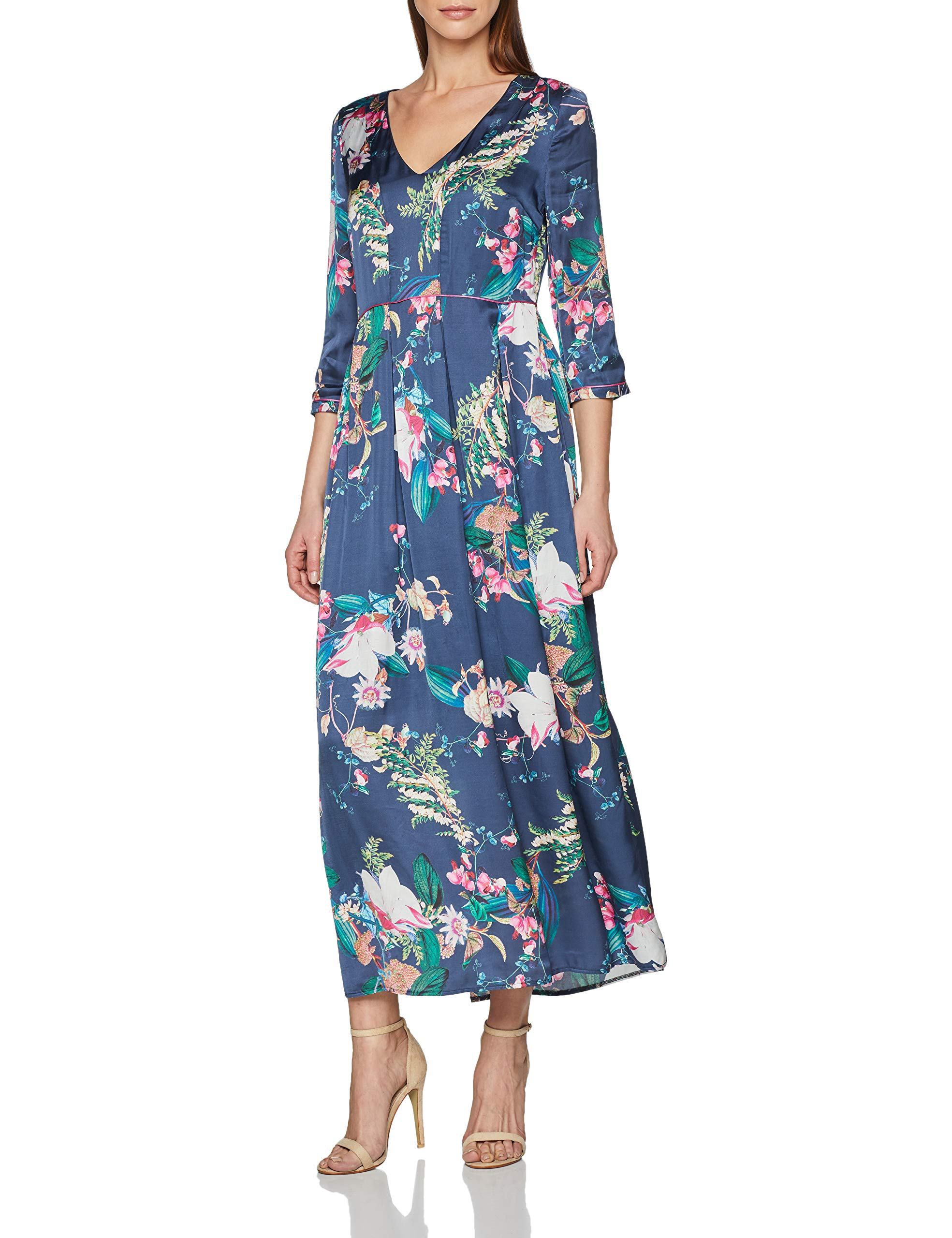 RobeBleumidnight 69044taille Daniel Hechter Fabricant42Femme Maxi Dress 6v7IbfgYy