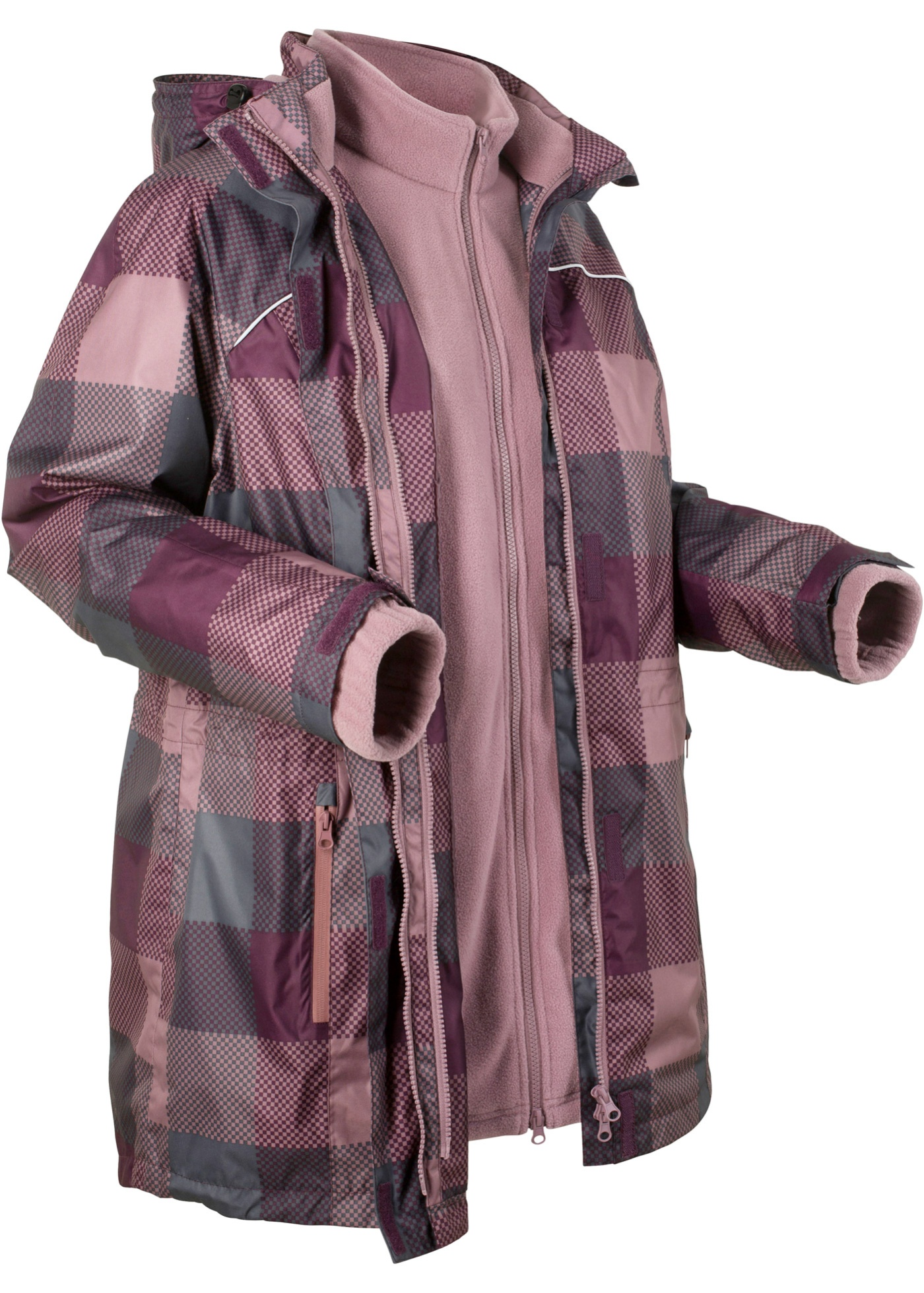 Bonprix Bpc Violet Pour CollectionVeste Femme Manches Longue Longues Outdoor 3en1 fyb7vY6g