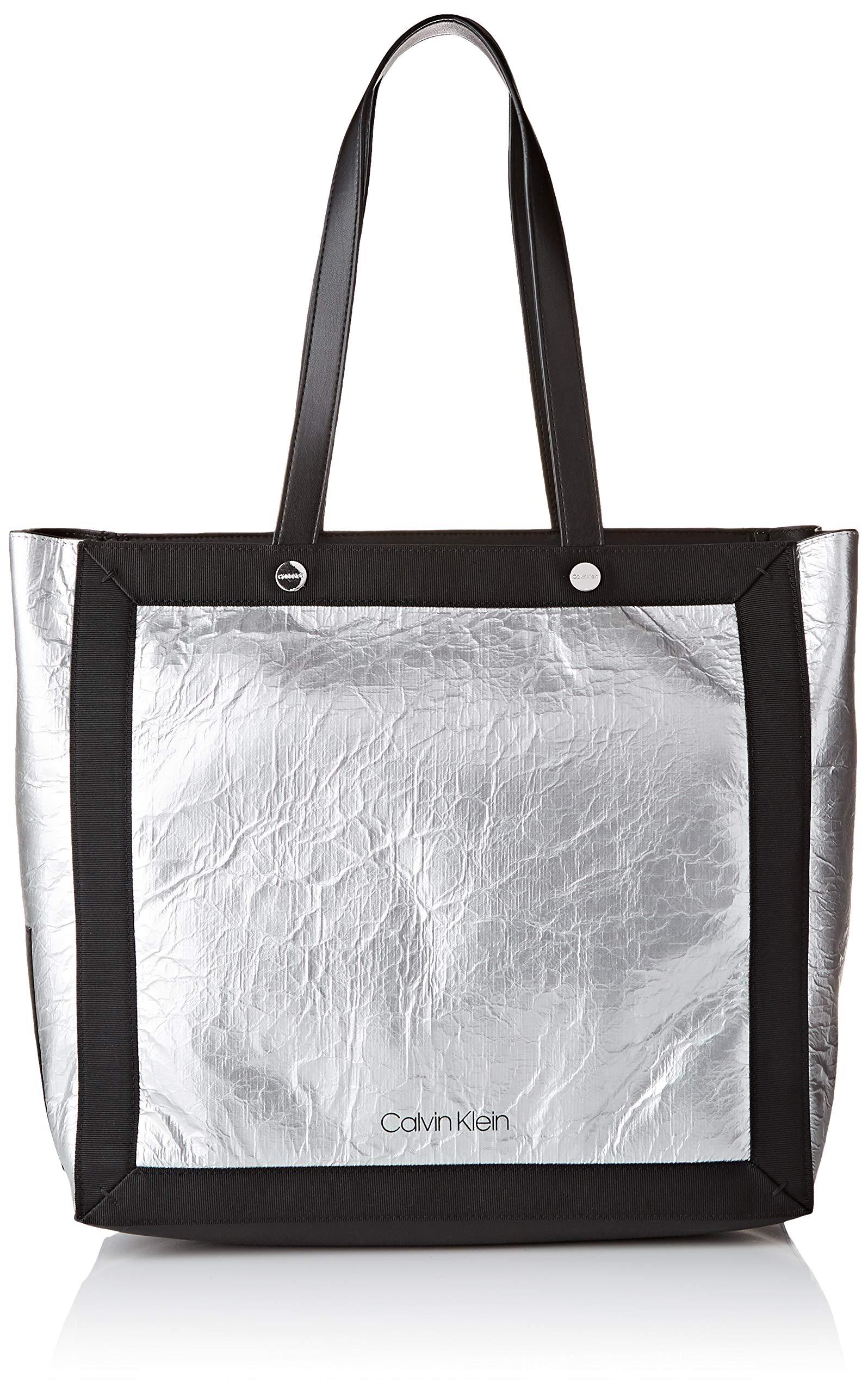Calvin black15 T Outline 5x35x33 H FemmeArgentésilver X Ew Klein Cmb ShopperCabas dxBoWCer