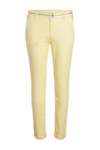 Cache Taille Pantalon Avec Jaune Ceinture CotonFemme Chino 34 eQCrxodBW