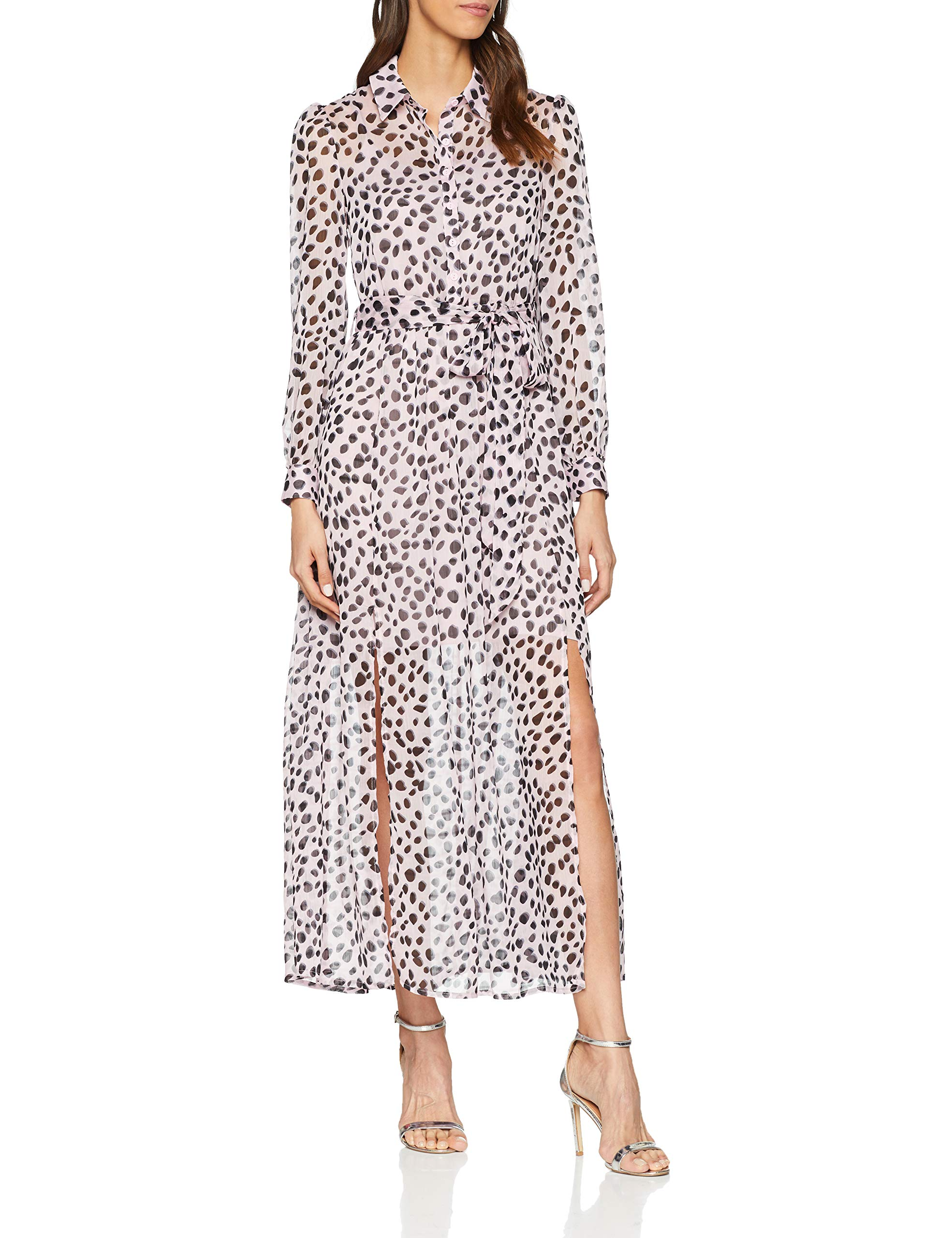 Fabricant12Femme Dress Bz4440taille RobeMulticolorelilac Print Animal Maxi Ladies Dalmatian Glamorous PnO8wk0