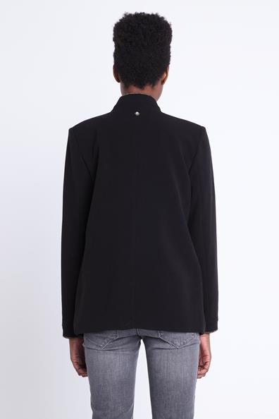 Col Taille L Veste ViscoseFemme Noir Sans Bonobo Droite Revers 0wknOPX8