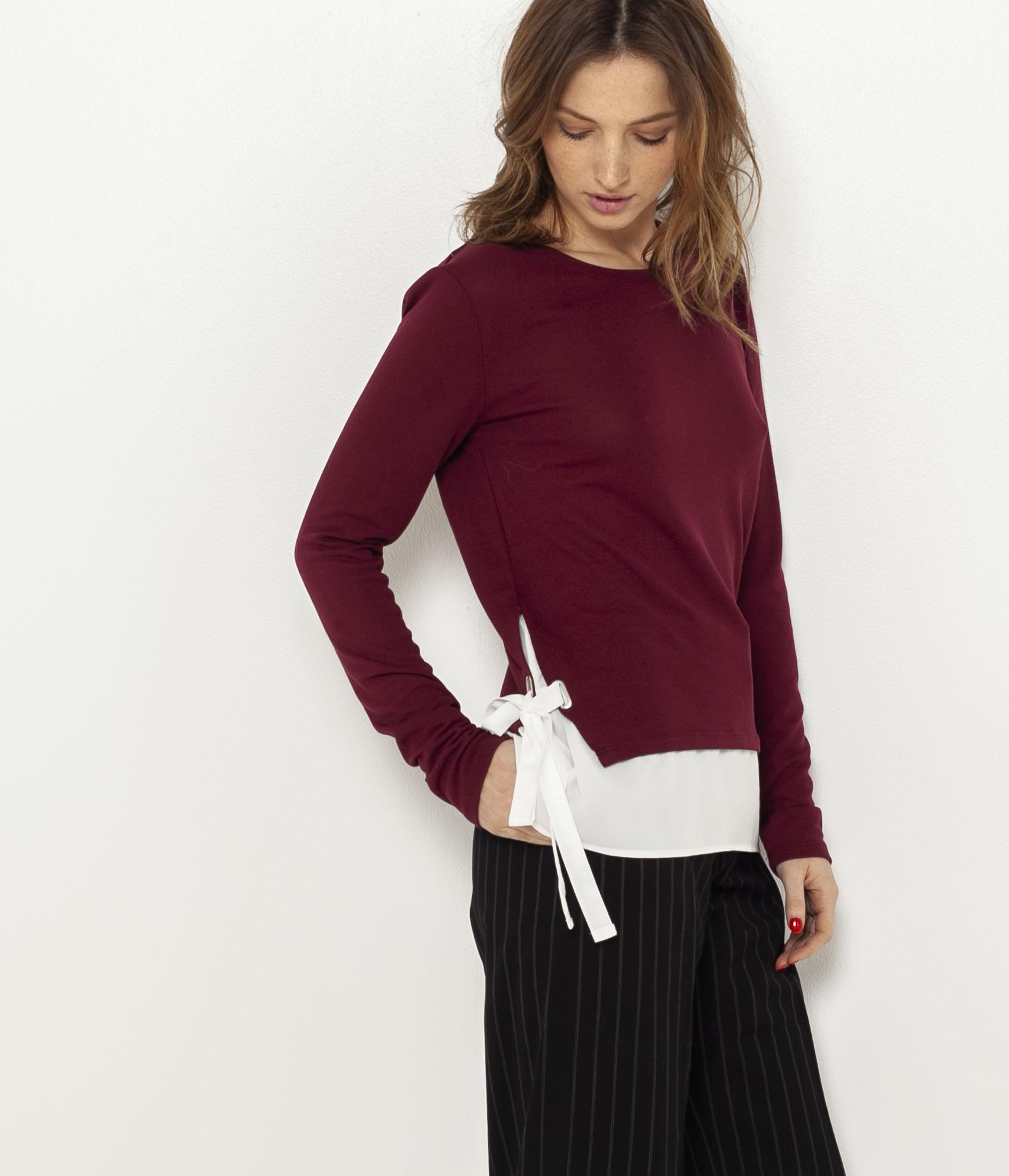 Camaïeu Bi Femme shirt Matière T Noeuds l1cTFKJ3