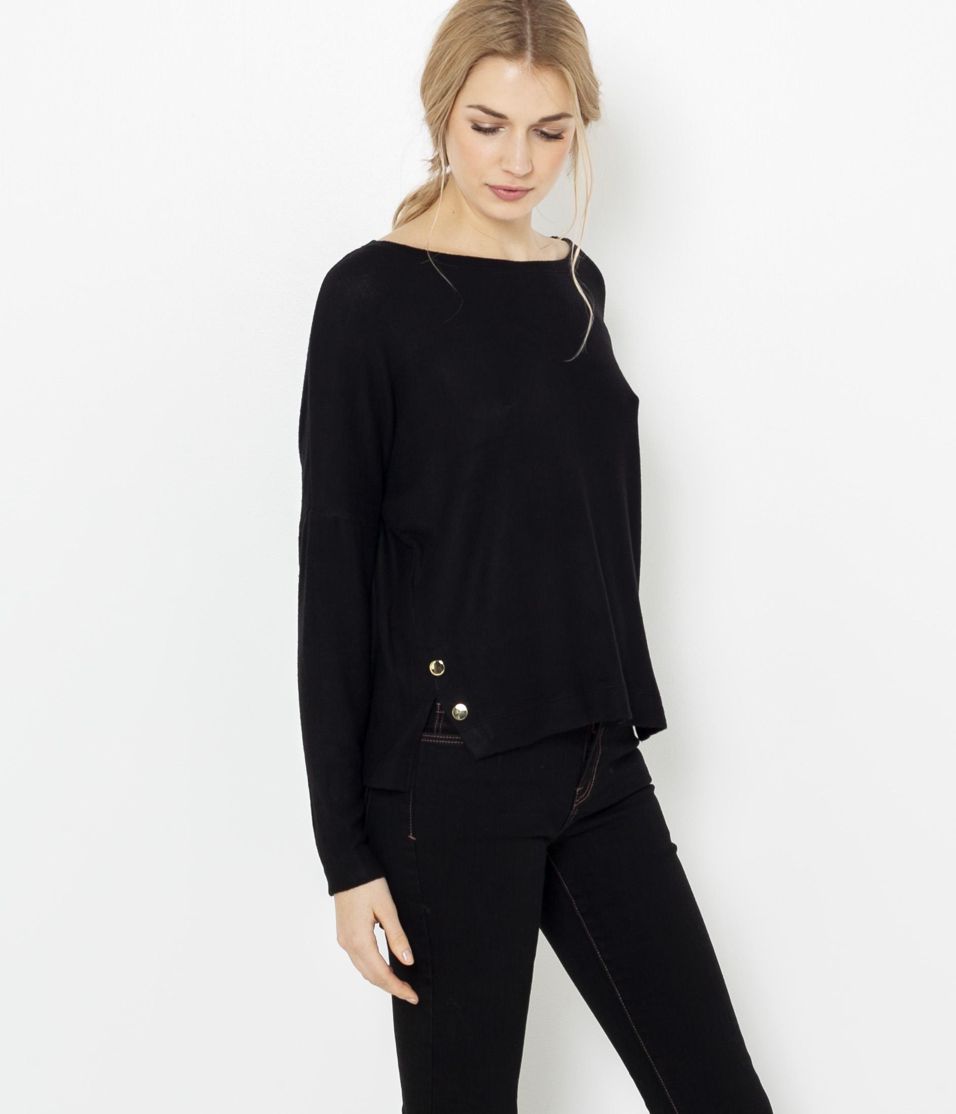 Côtés Boutons Camaïeu shirt Femme T xQdoCBeWEr