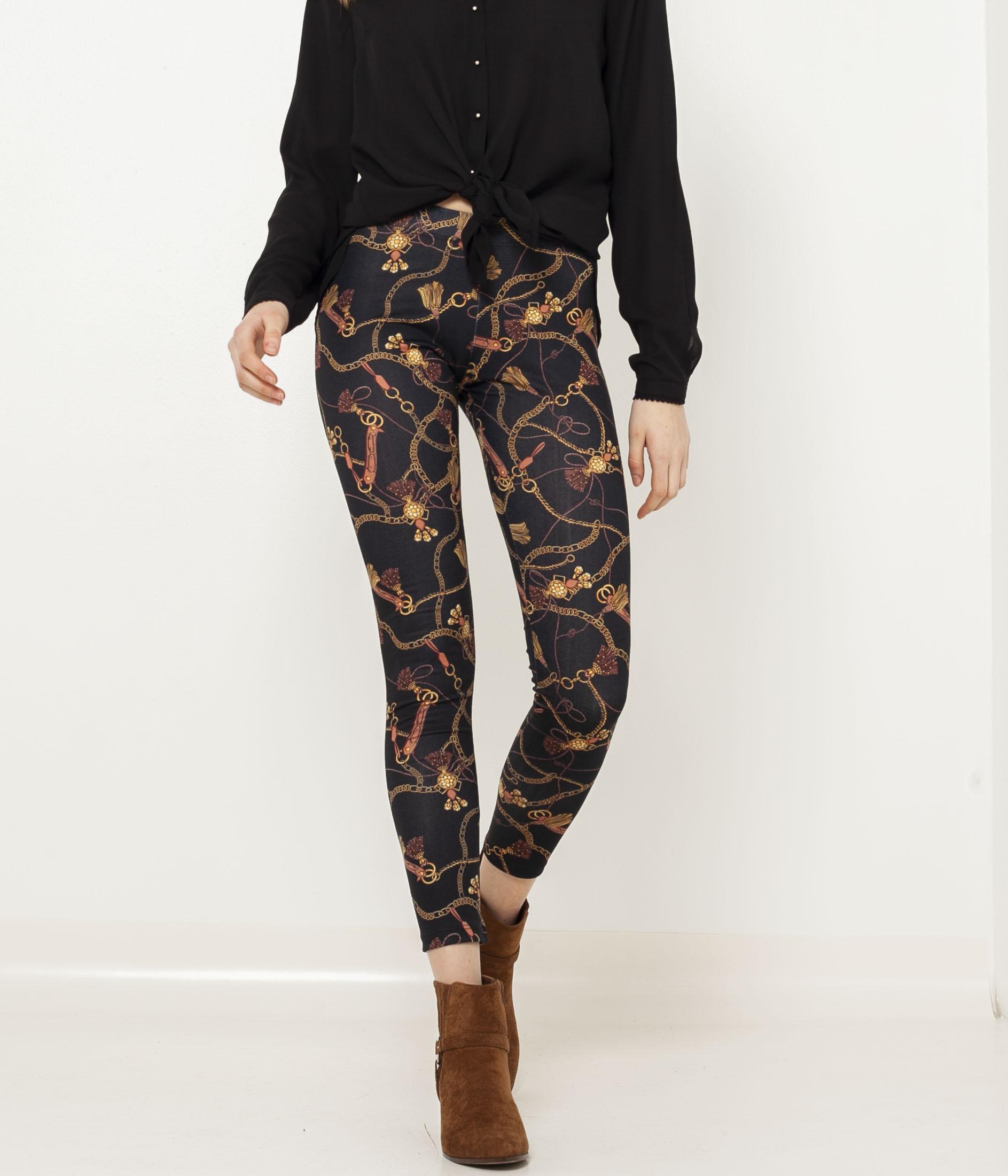 Femme Imprimé Imprimé Foulard Legging Legging Foulard Camaïeu Camaïeu WE2IeDH9Y