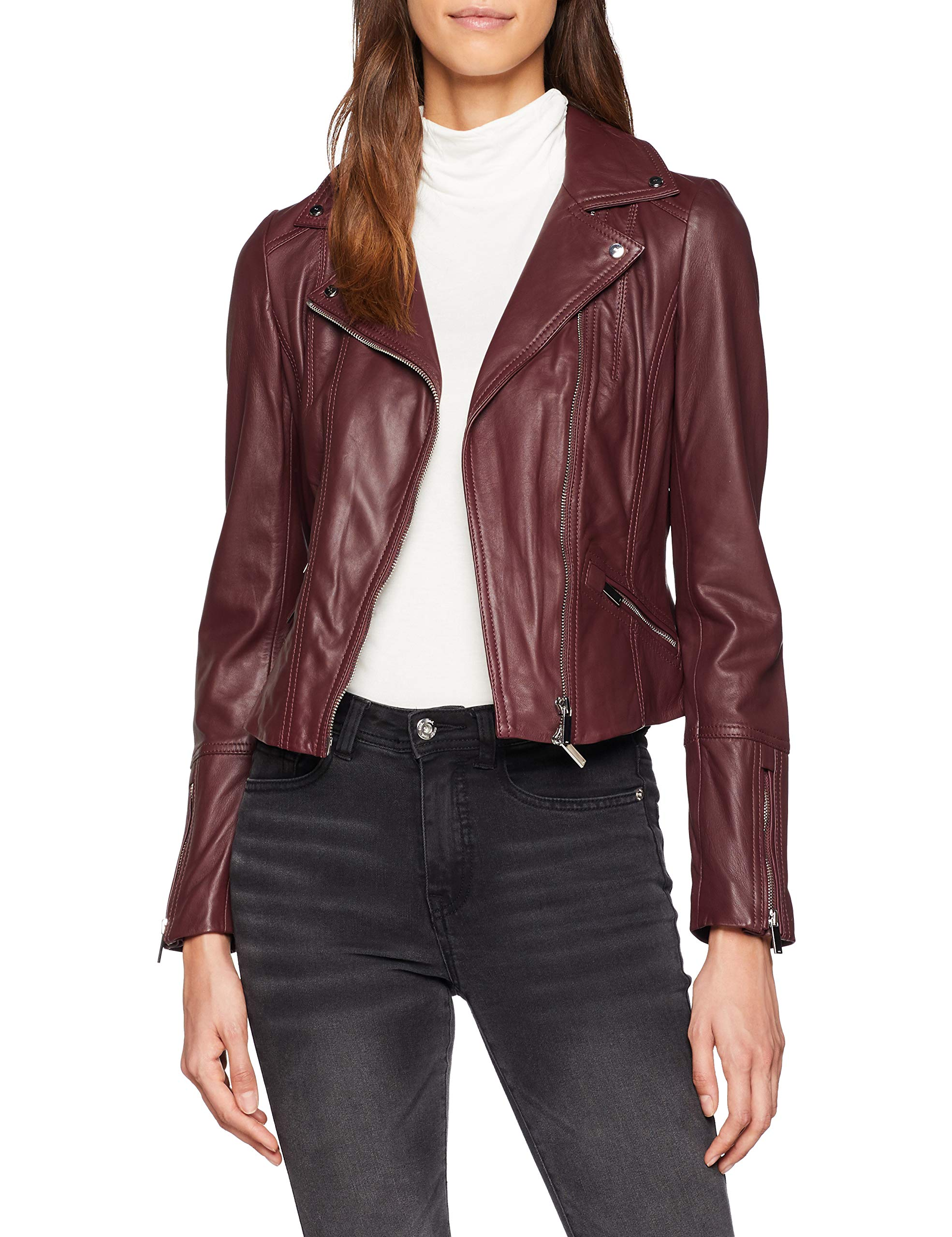 BlousonVioletpurple38taille Leather Millen Coloured 10Femme Jacket Karen FabricantUk 1FlJuTKc35