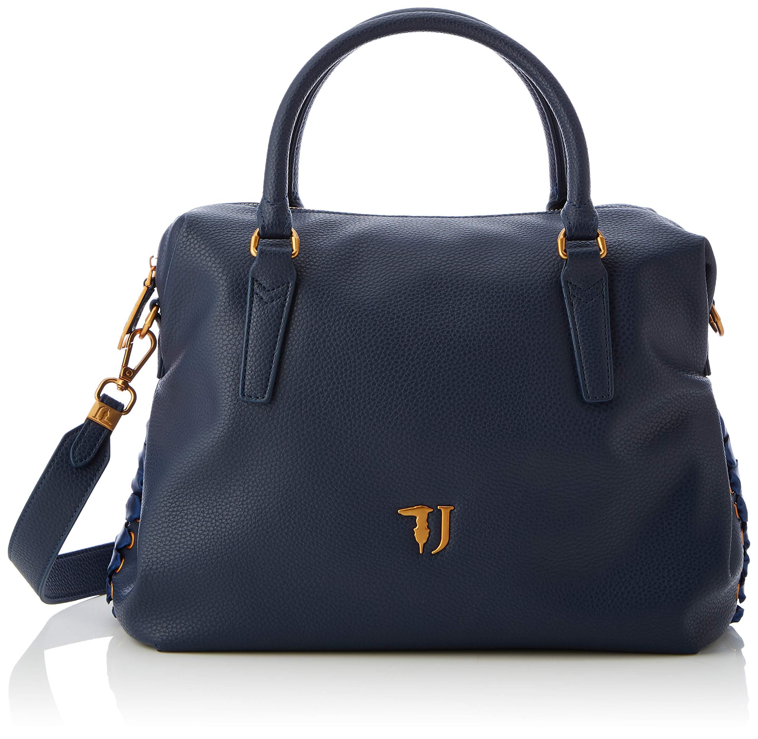 L H Porté X FemmeBleudark Cmw BagSac Main Lavanda Jeans Blue35x22x15 Trussardi Satchel JKFcTl1