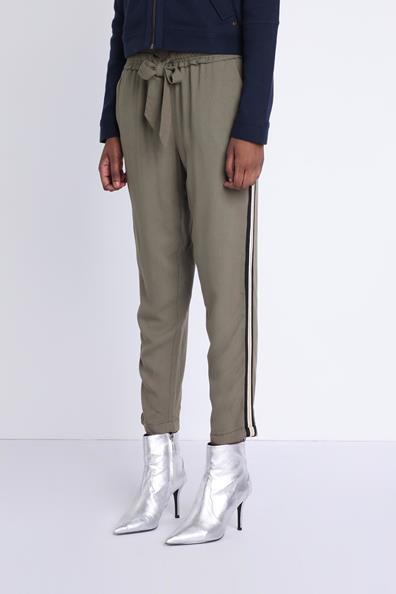 Pantalon Bandes 34 À ViscoseFemme Jogging Bonobo Vert Taille ZPiukX