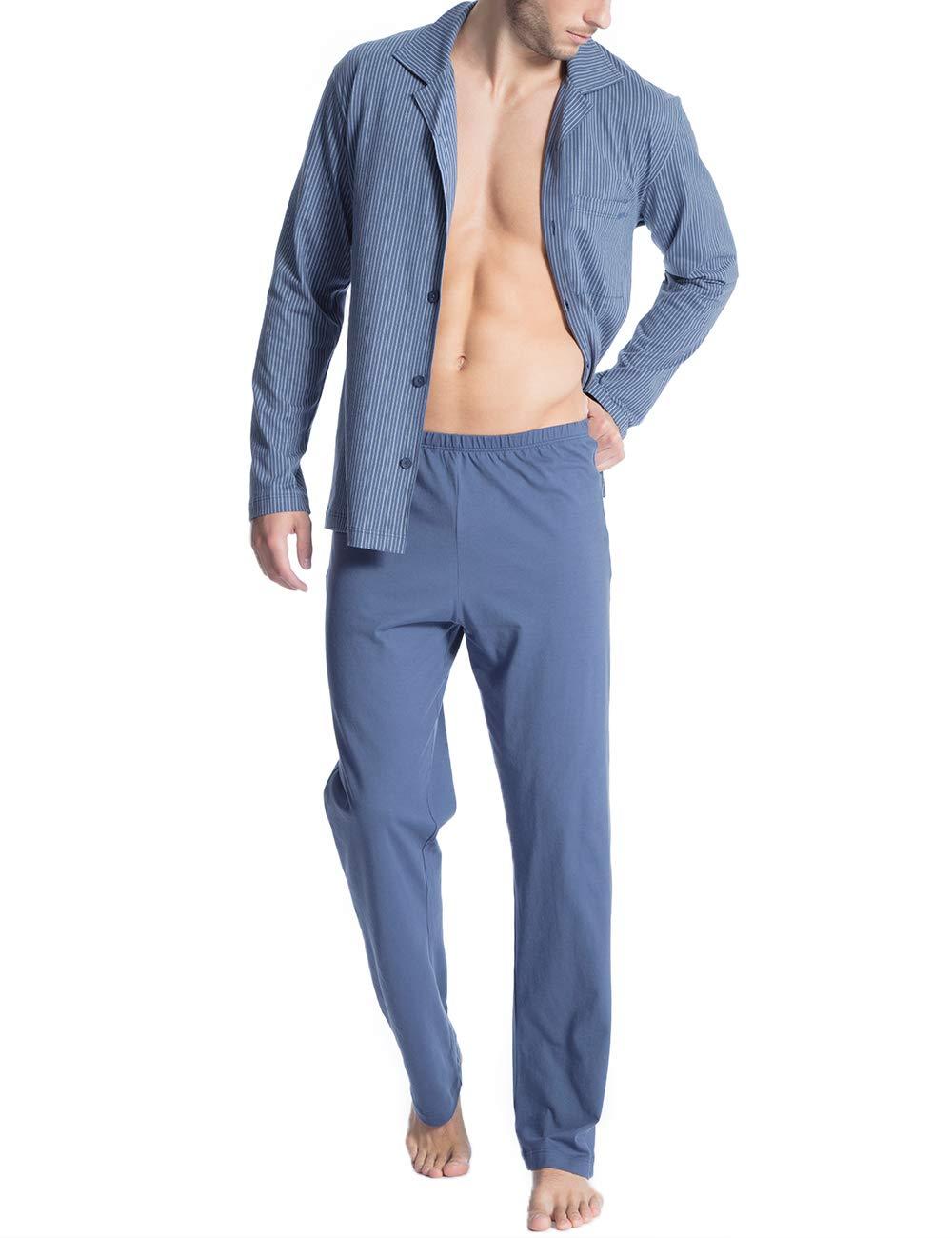 Blue Homme Relax Ensemble De Imprint PyjamaBleumountain 1 448Large Calida g6Yb7yvf