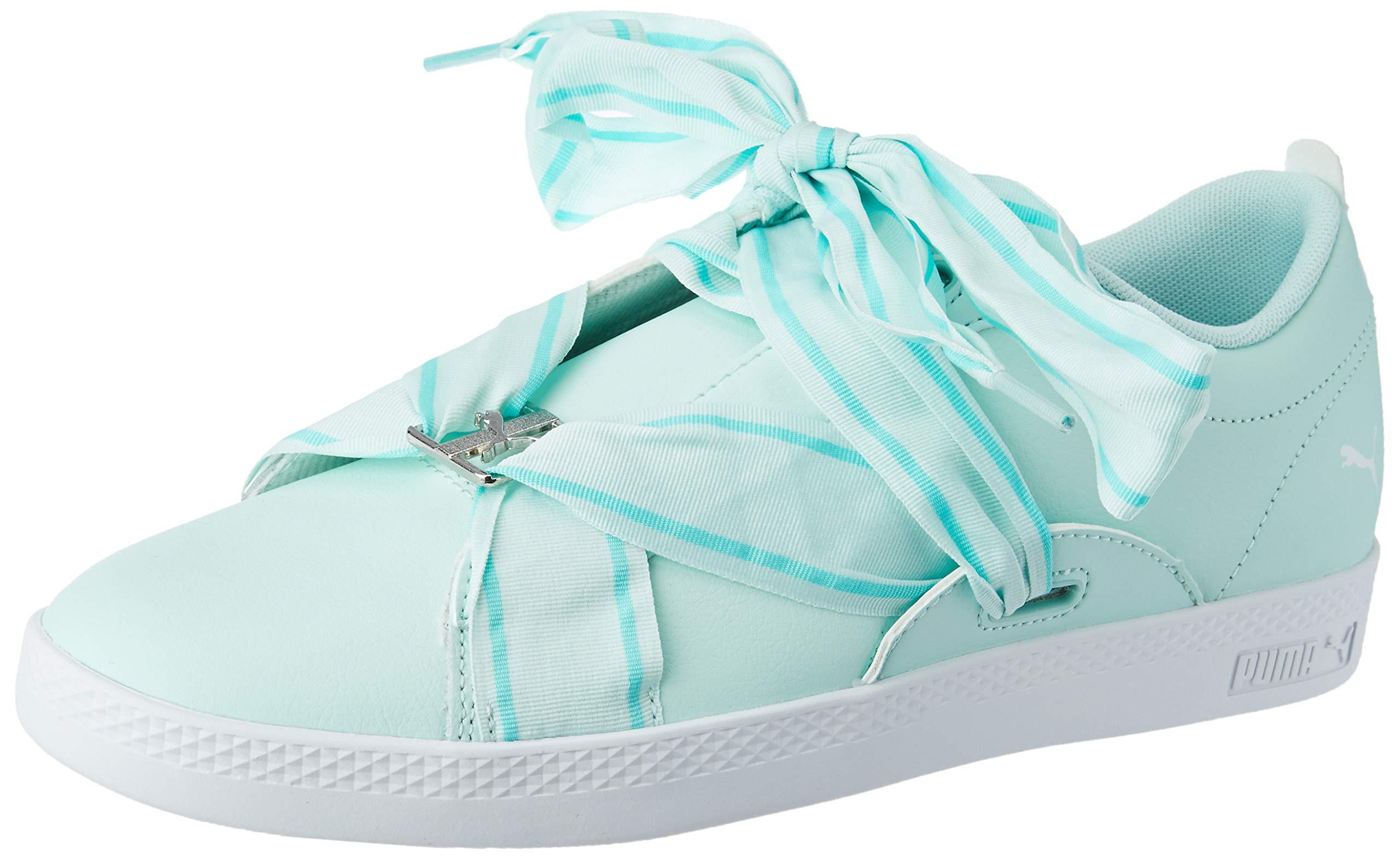 White Silver40 Eu Smash Wns BuckleSneakers Puma Aqua Basses FemmeBleufair tsQhCrd
