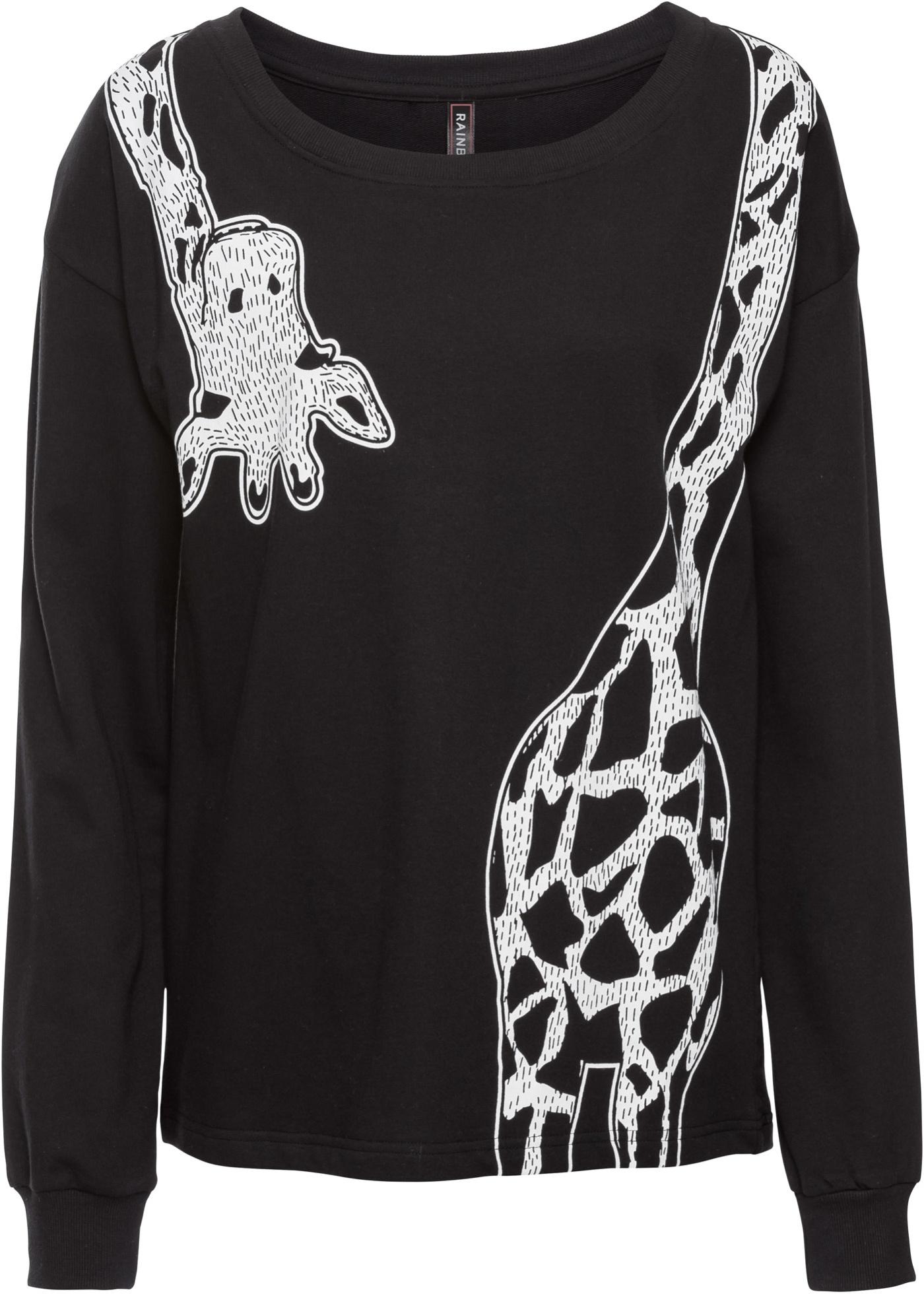 Longues À Pour Rainbow shirt Manches BonprixSweat Girafe Femme Noir Imprimé 6yYf7mbvIg
