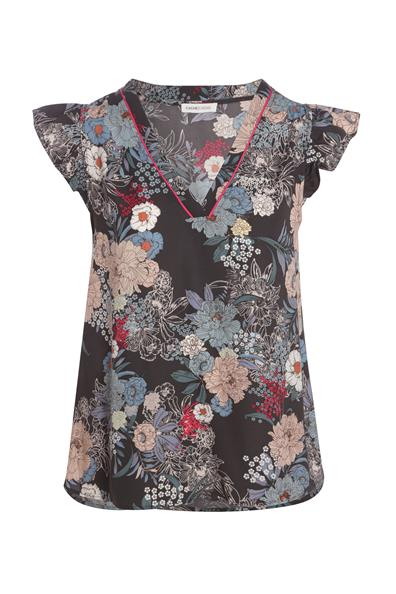 Courtes Volants Multicouleur Blouse Manches PolyesterFemme Taille 36 Cache N8yv0mnwOP