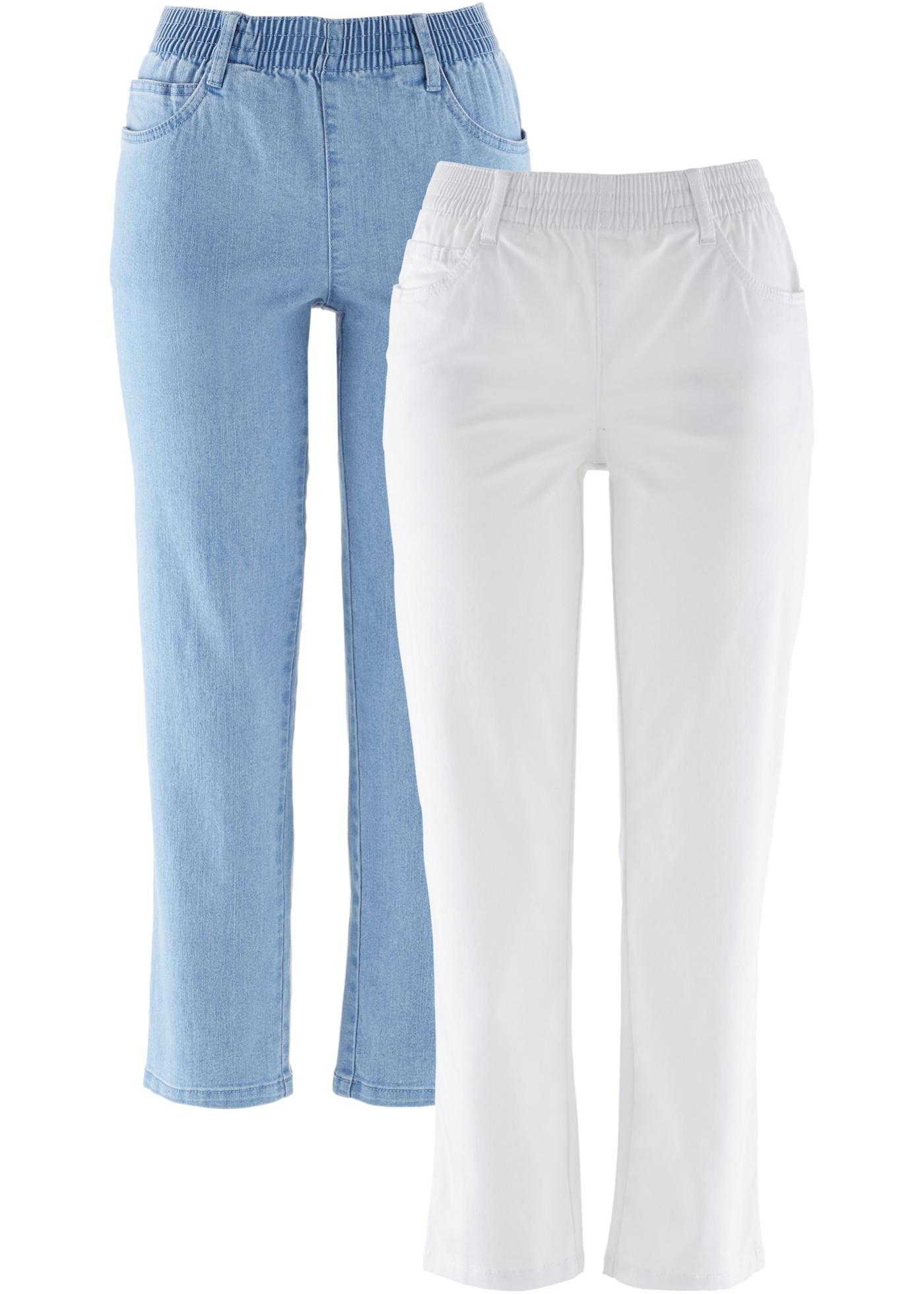 7 Blanc 2 Pantalons Extensibles Pour Femme CollectionLot 8 Bpc Bonprix De v80wOmNn