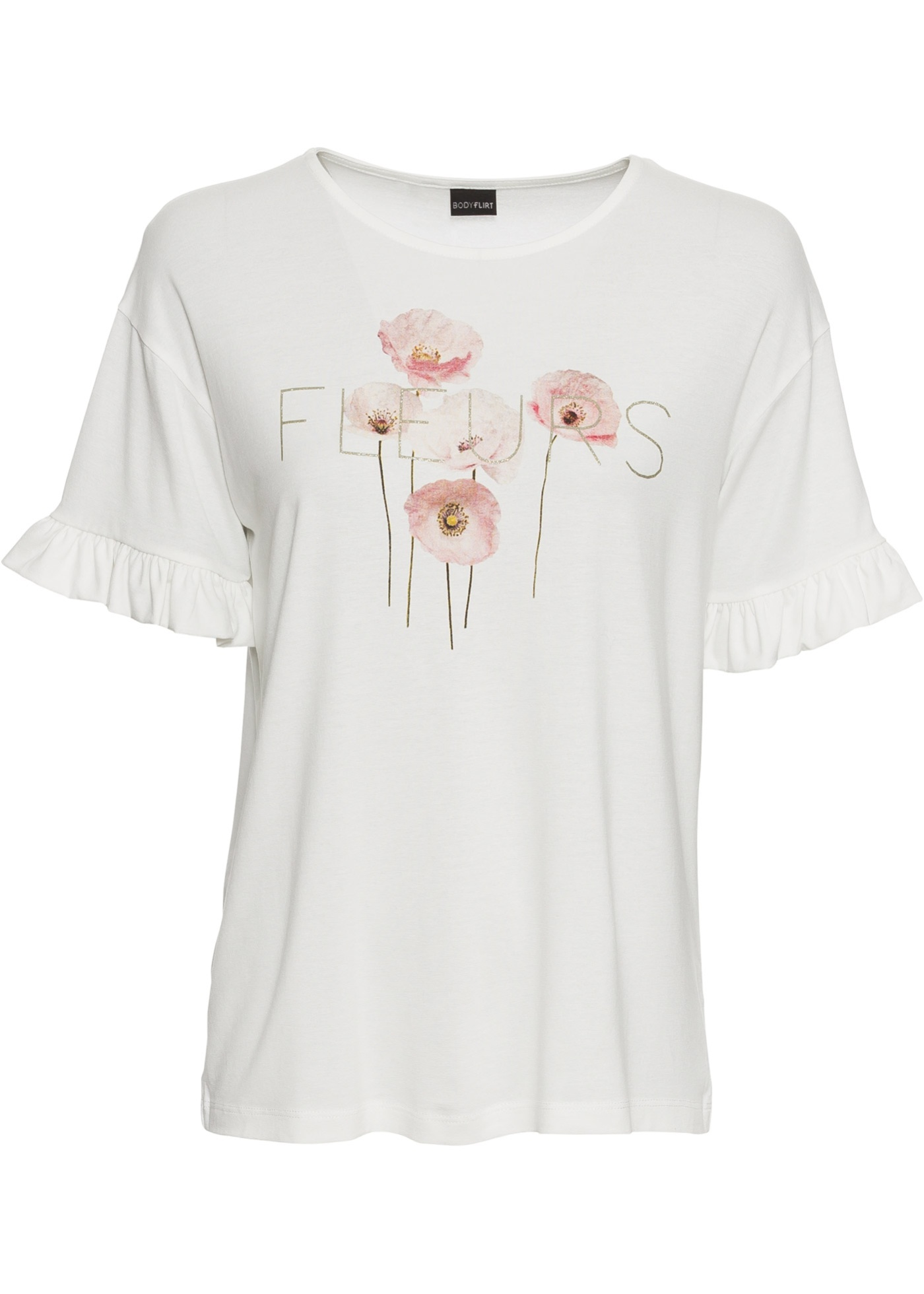 BonprixT Pour Manches Imprimé Courtes Femme Blanc Bodyflirt À shirt c54Aq3RLj