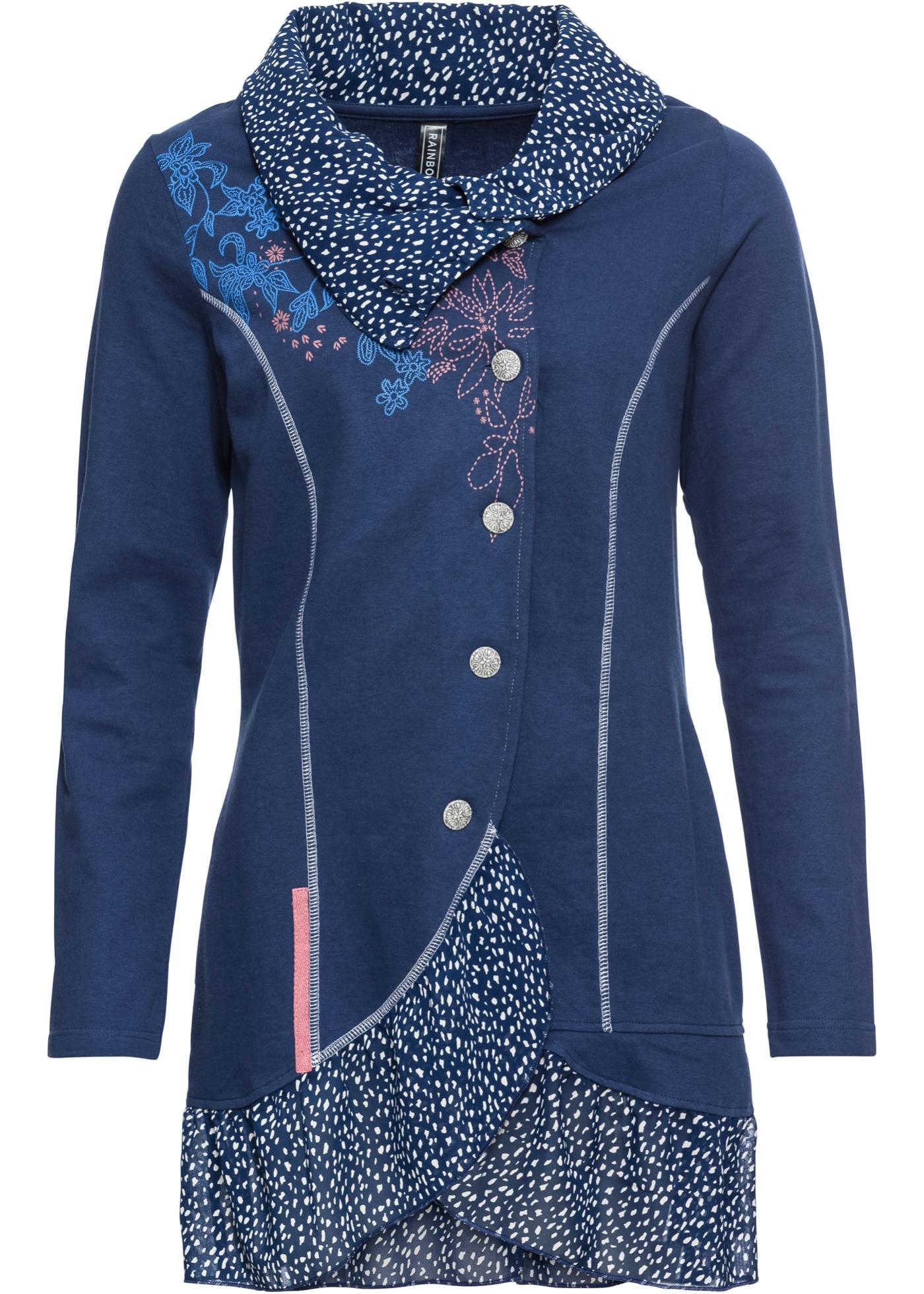 BonprixGilet Bleu T Femme Manches Rainbow shirt Longues Pour 45cj3ARLq