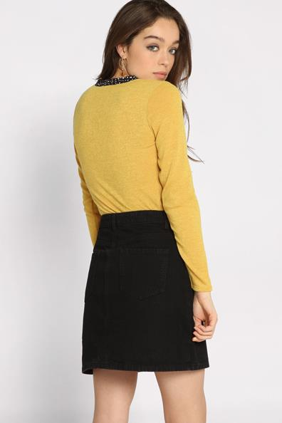 ElasthanneFemme Longues En 1 Pull Jaune 2 Manches Cache L Taille vw0nm8N