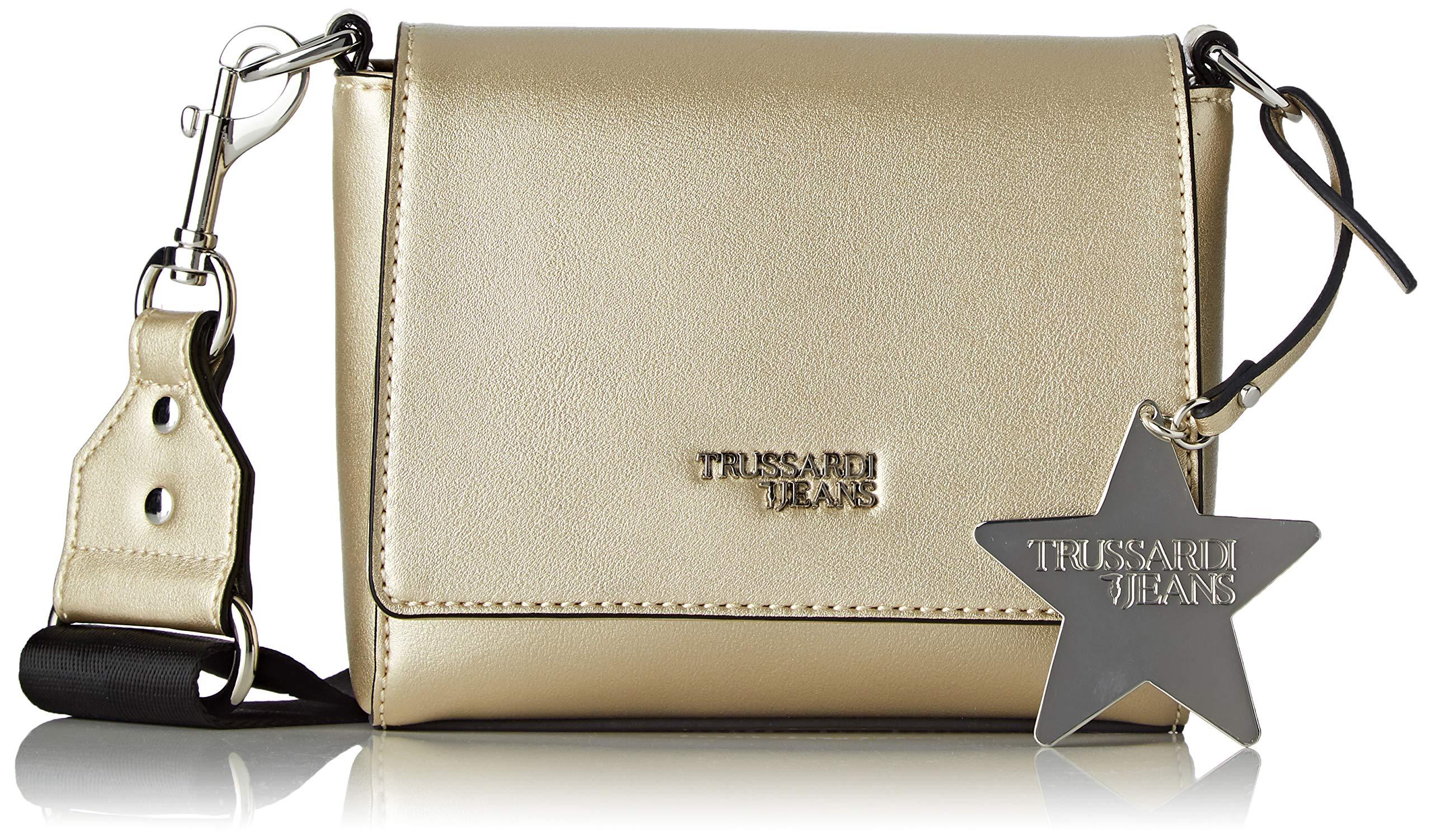 TEasy À Trussardi L Bandoulière CacciatoraSac H Jeans FemmeOrmetal Gold16x14x6 X Star Centimetersw Y6I7ymfgbv