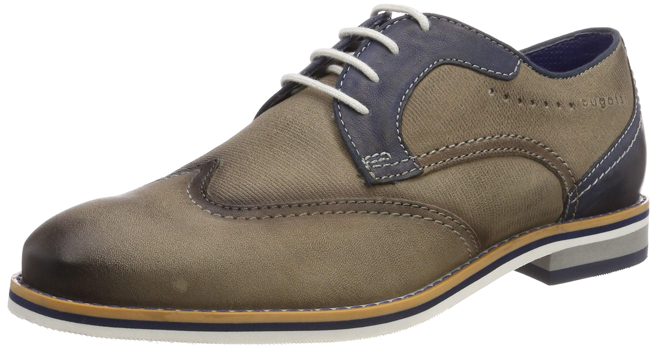 dark Blue Bugatti 311694013535Derbys 124144 Eu HommeGrislight Grey sCrtQhxBd