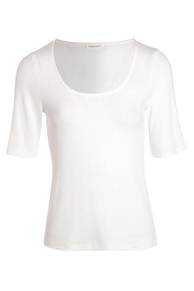 shirt Ajusté Beige Cache ViscoseFemme L T Courtes Manches Taille AqRL345j