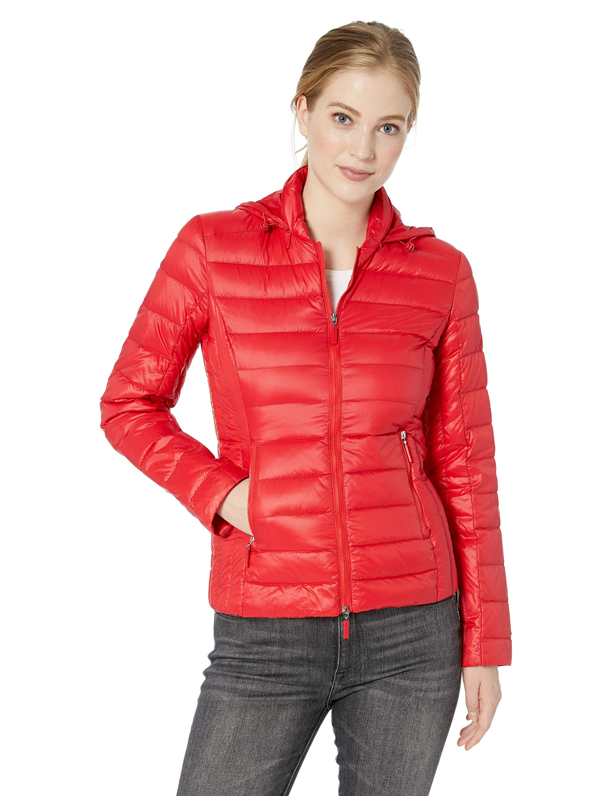 Exchange Down Femme Zip small Armani Rouge BomberMoulin Veste 1408X Up IYD2WH9E