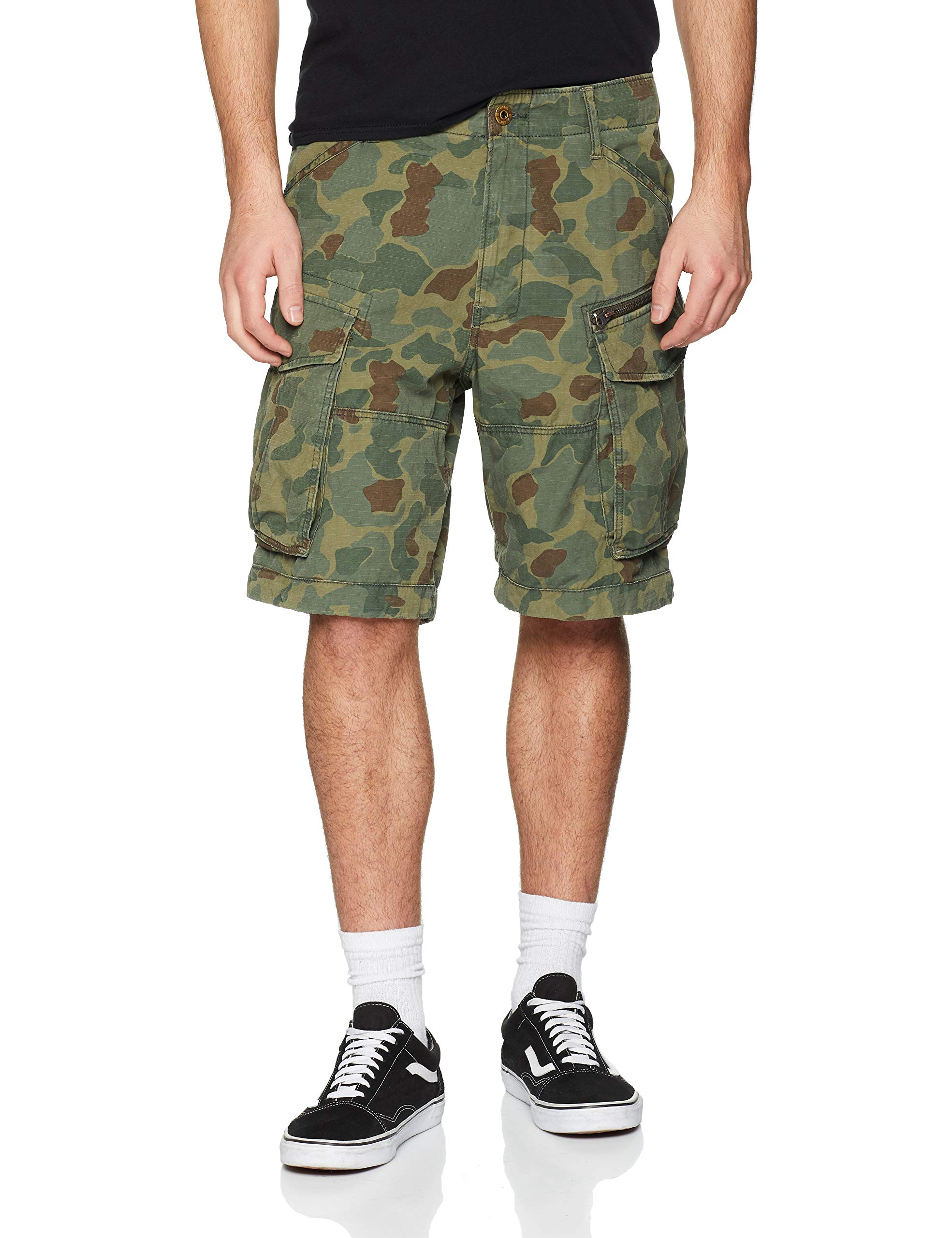 battle Green star G A055W33taille Rovic 12 ShortsNoirsage Ao Raw Zip Relaxed Fabricant33wHomme nOPk80wX