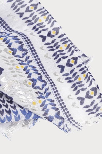 Fin Foulard Transparent PolyesterFemme T u Bleu Taille Cache PkiXZOu